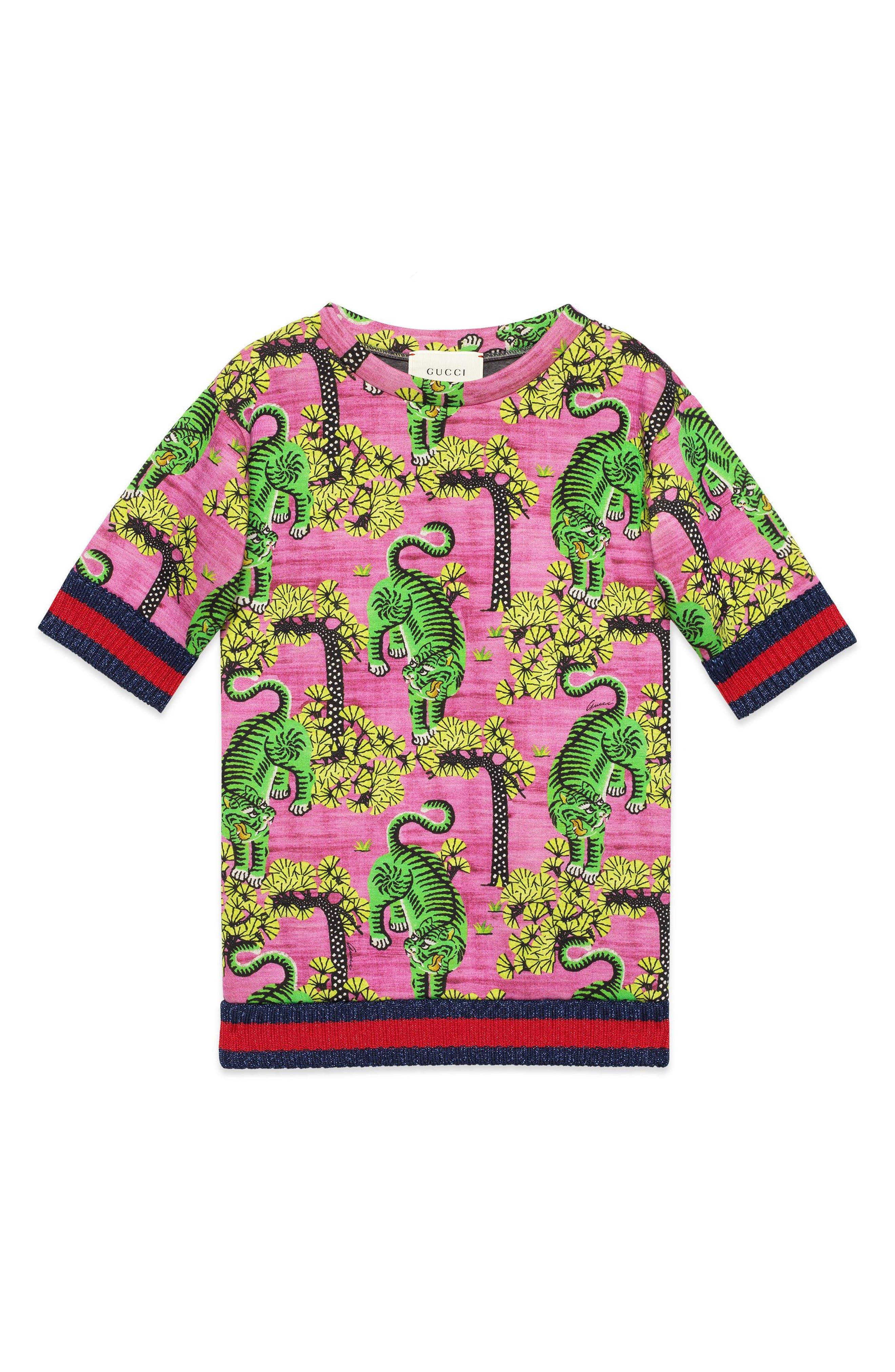 Gucci Tiger Print Dress (Little Girls & Big Girls)