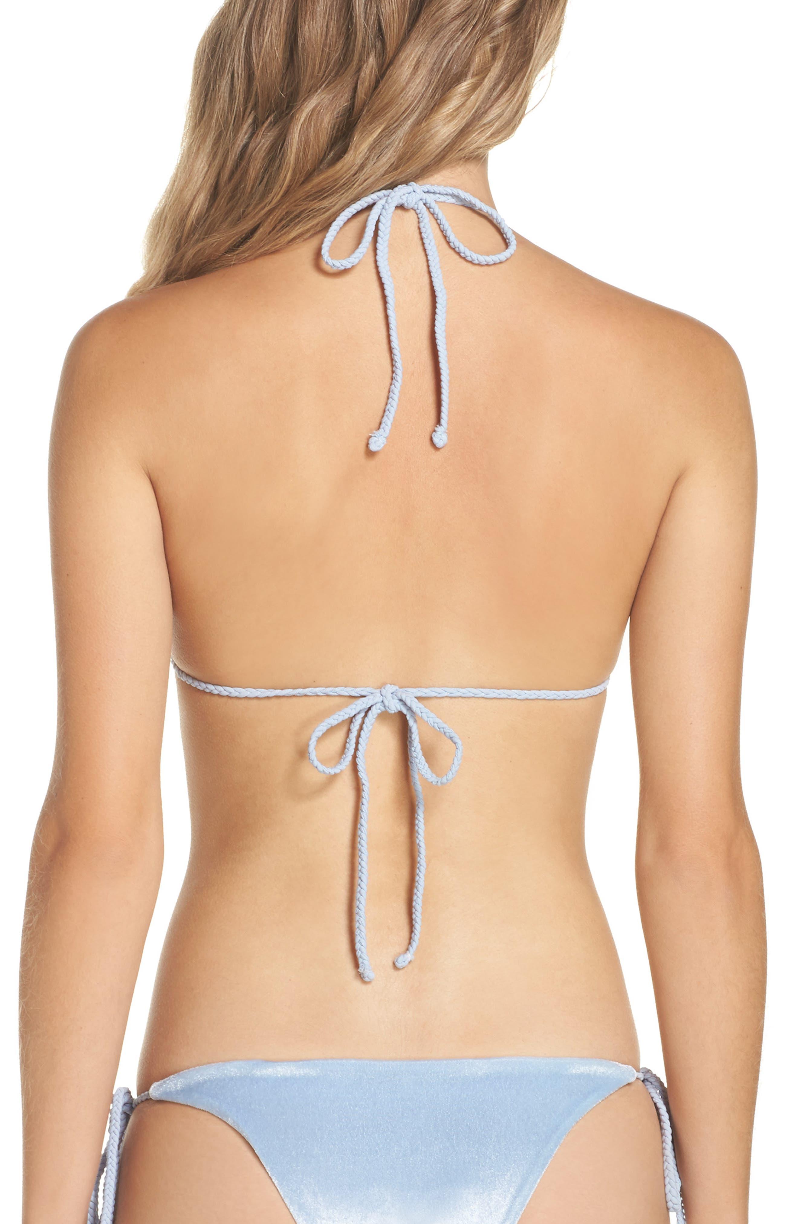 Alternate Image 1 Selected - Frankies Bikinis Knox Crushed Velvet Bikini Bottoms