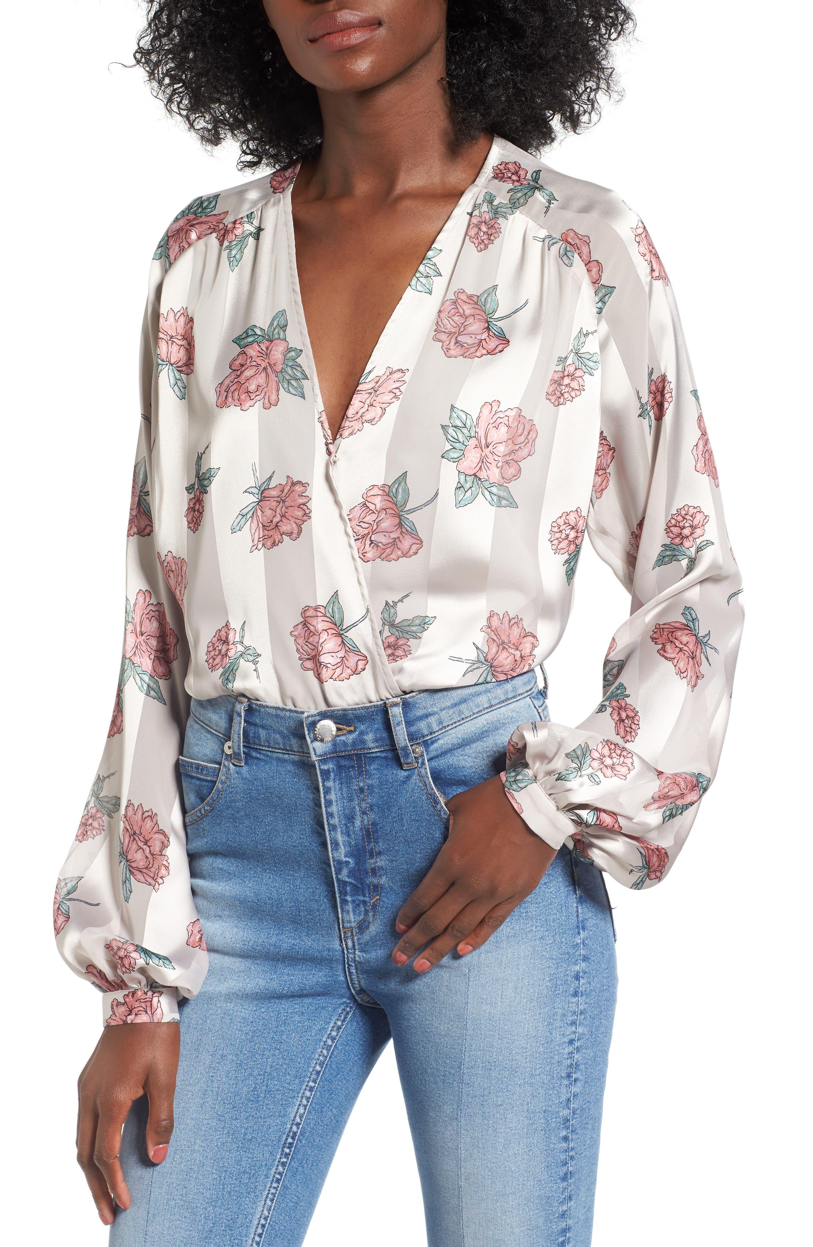 Layla Bodysuit,                             Main thumbnail 1, color,                             Garden Floral
