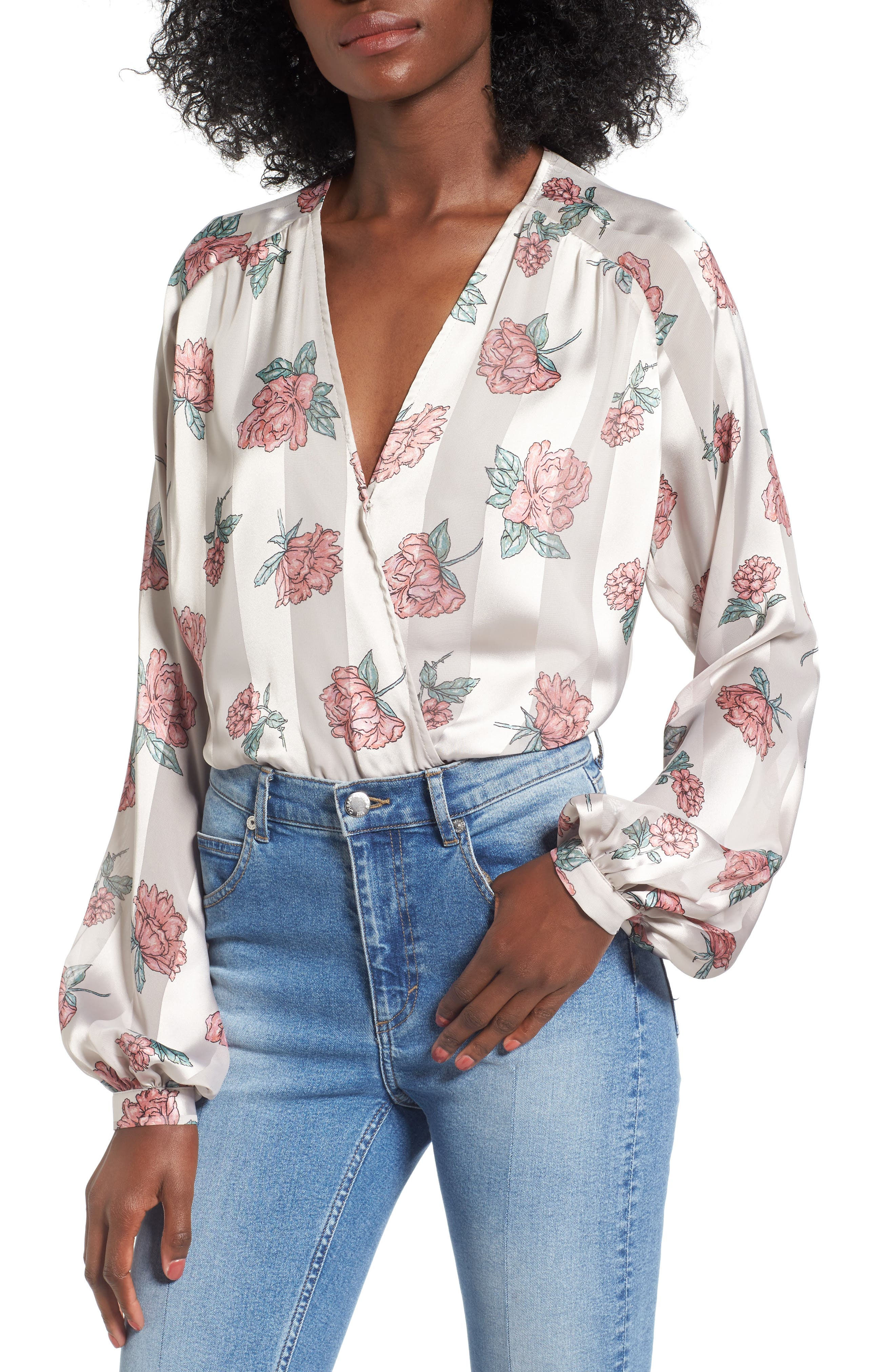 Layla Bodysuit,                         Main,                         color, Garden Floral