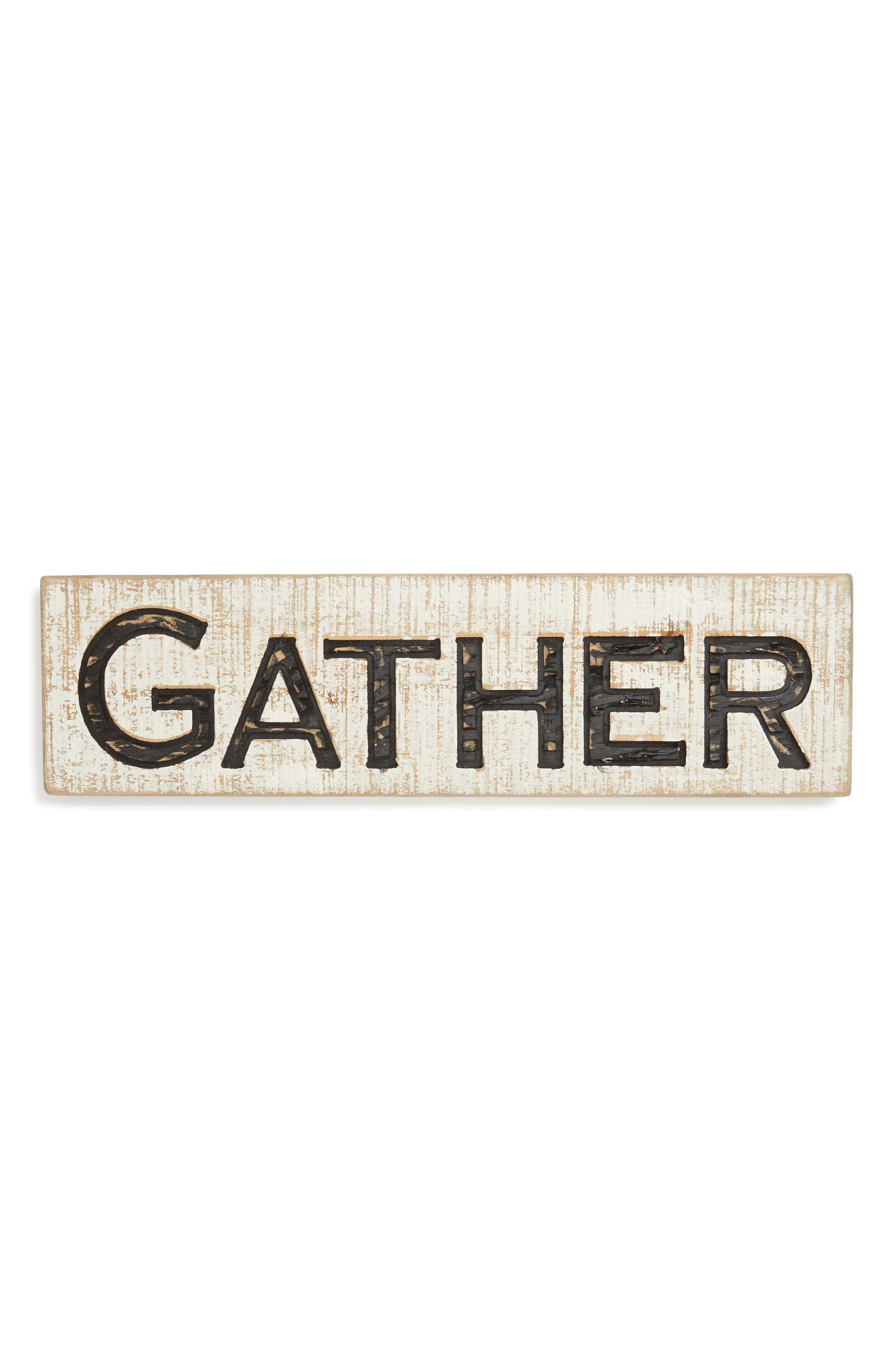 Gather Farmhouse Sign,                         Main,                         color, White