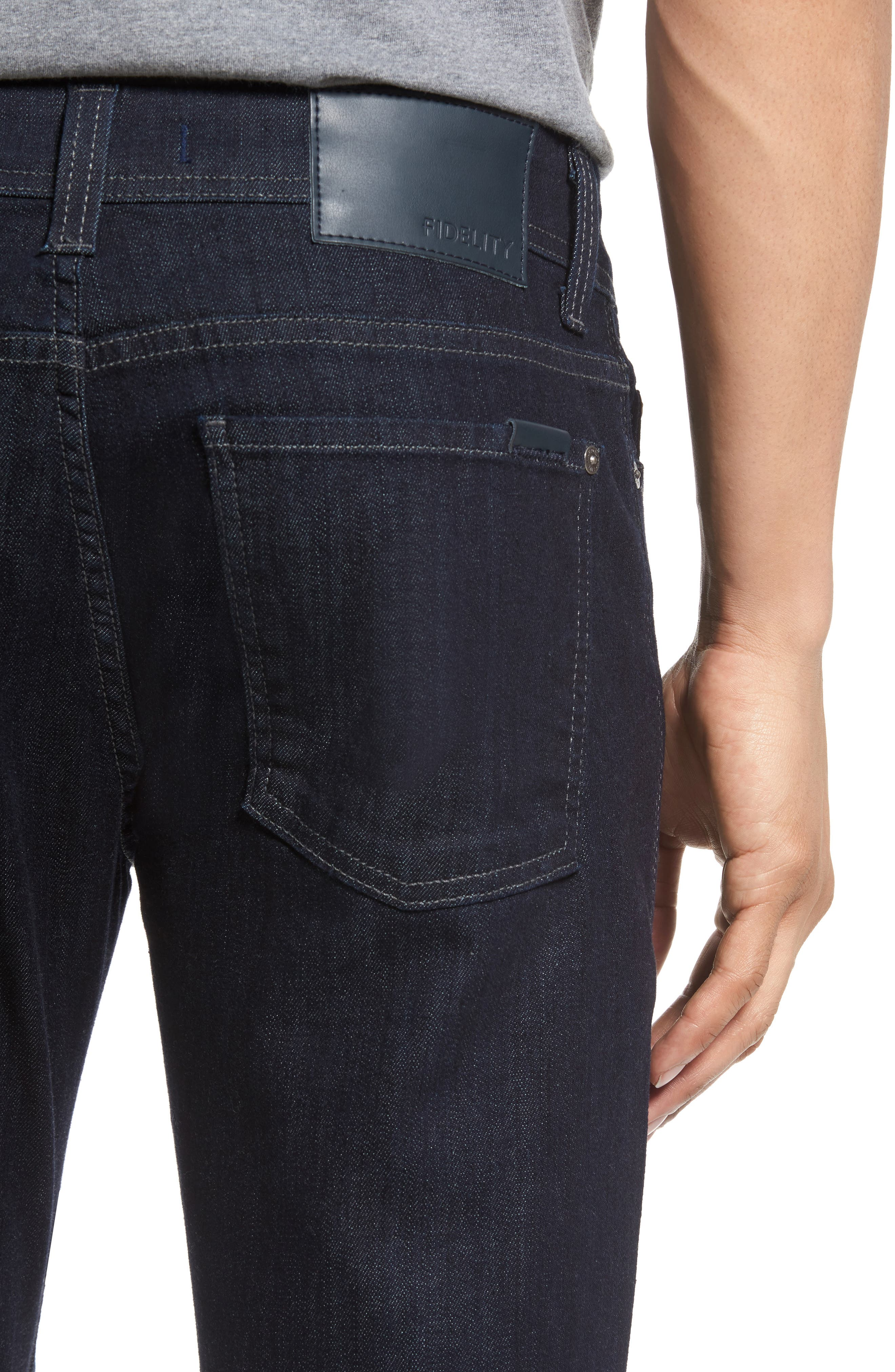 Alternate Image 4  - Fidelity Denim Torino Slim Fit Jeans (Capital Blue)