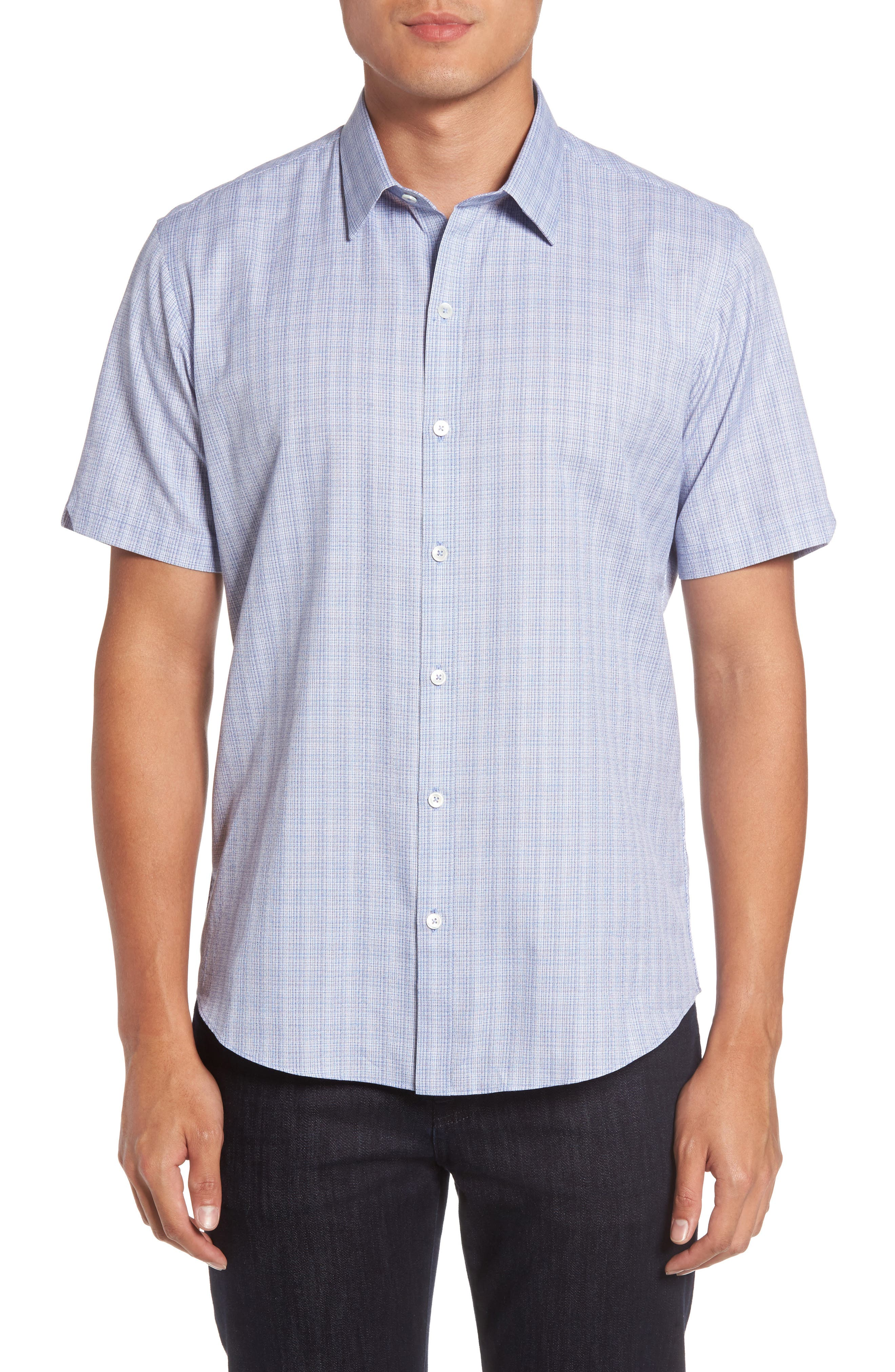Zimmerman Check Sport Shirt,                         Main,                         color, Blue