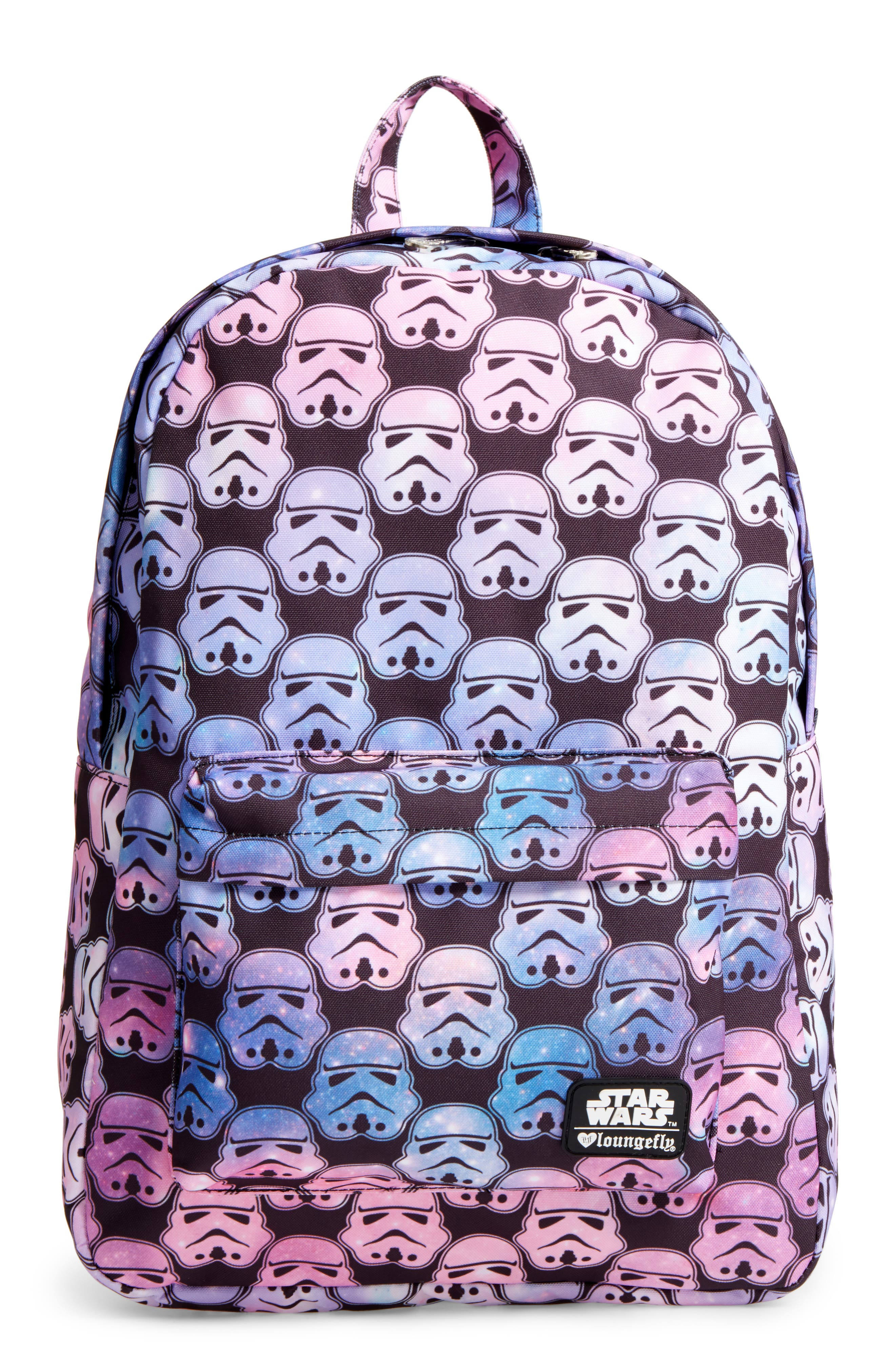 Star Wars<sup>™</sup> Stormtrooper Galaxy Backpack,                             Main thumbnail 1, color,                             Multi Black