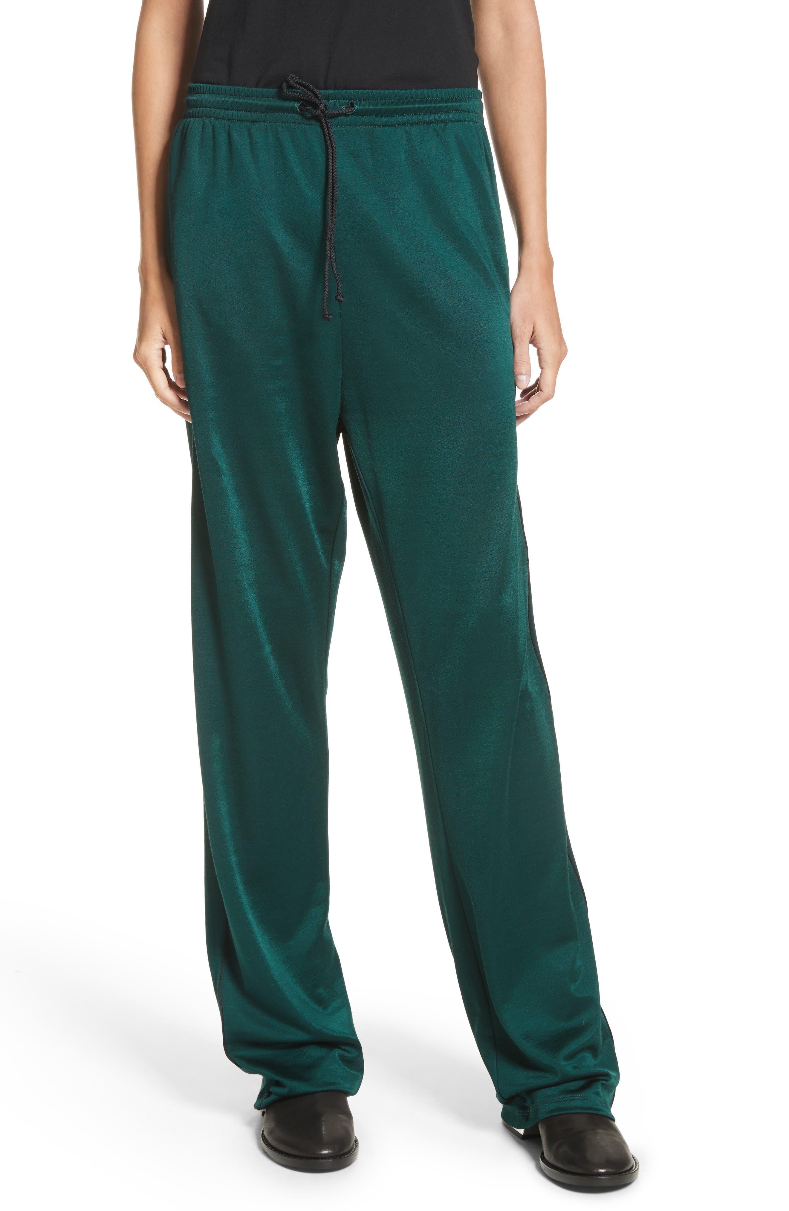Drawstring Track Pants,                         Main,                         color, Pine