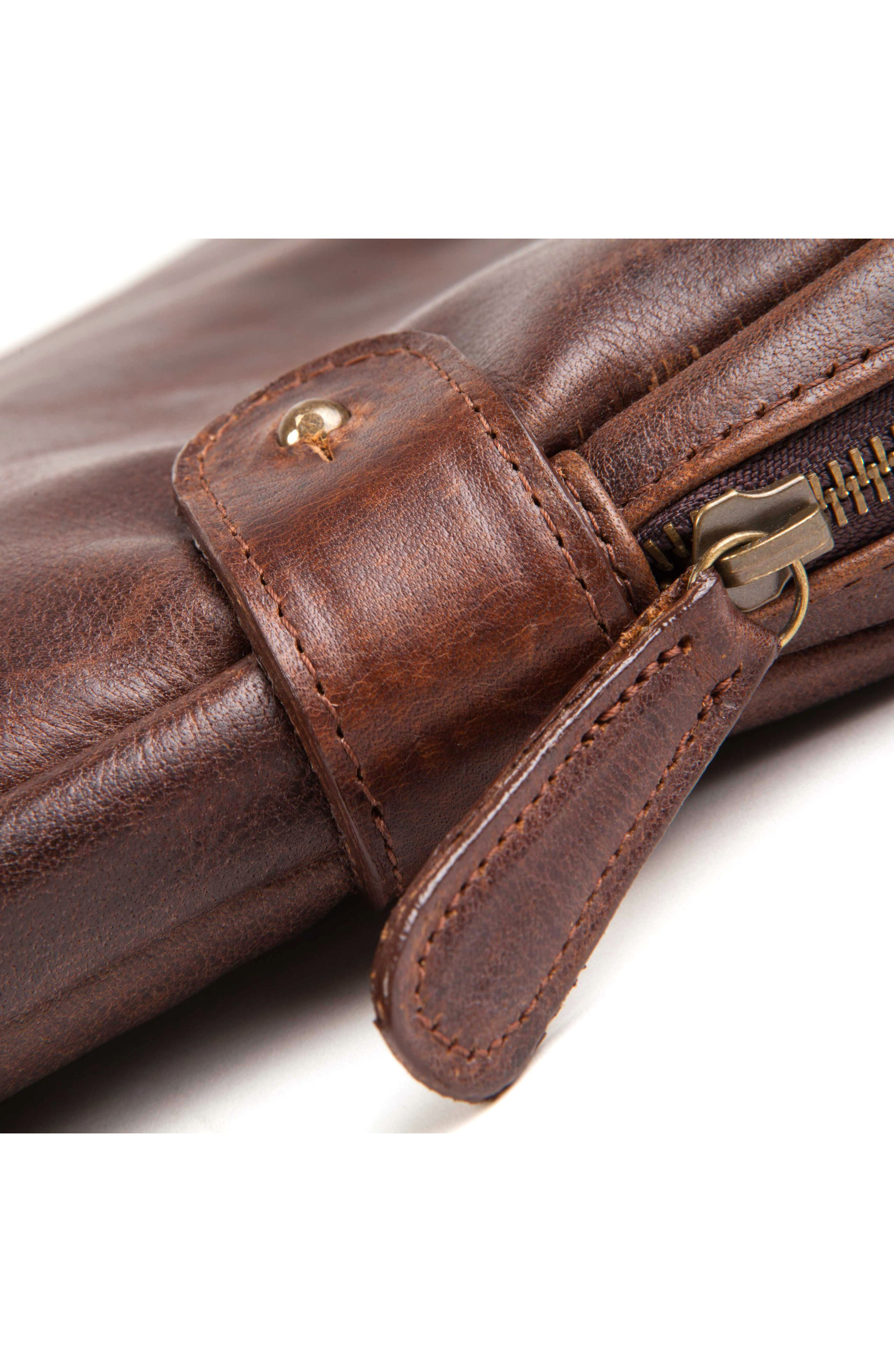Leather Tablet Sleeve,                             Alternate thumbnail 3, color,                             Titan Milled Brown