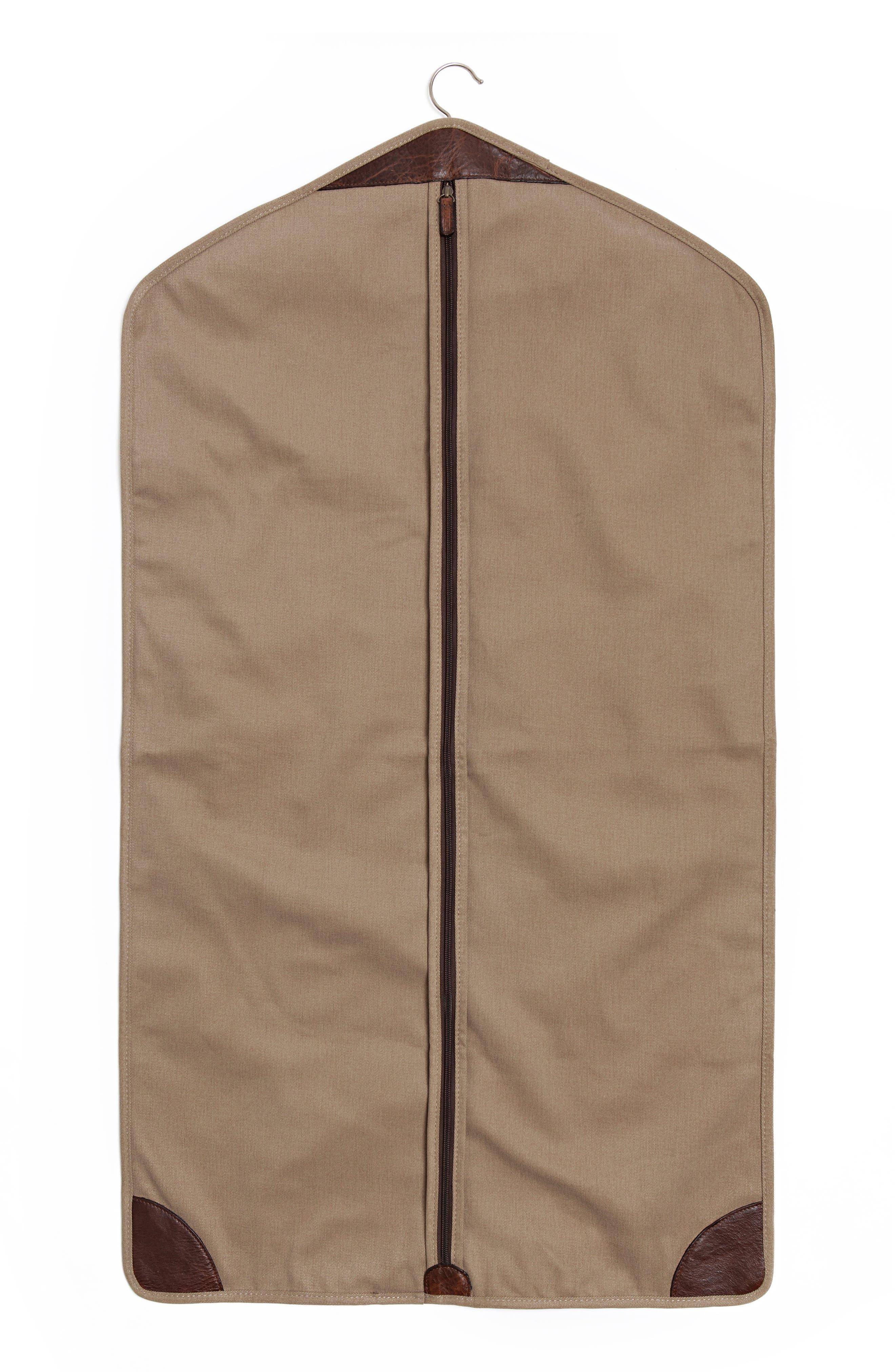 Holton Garment Bag,                             Main thumbnail 1, color,                             Brushed Tan Twill