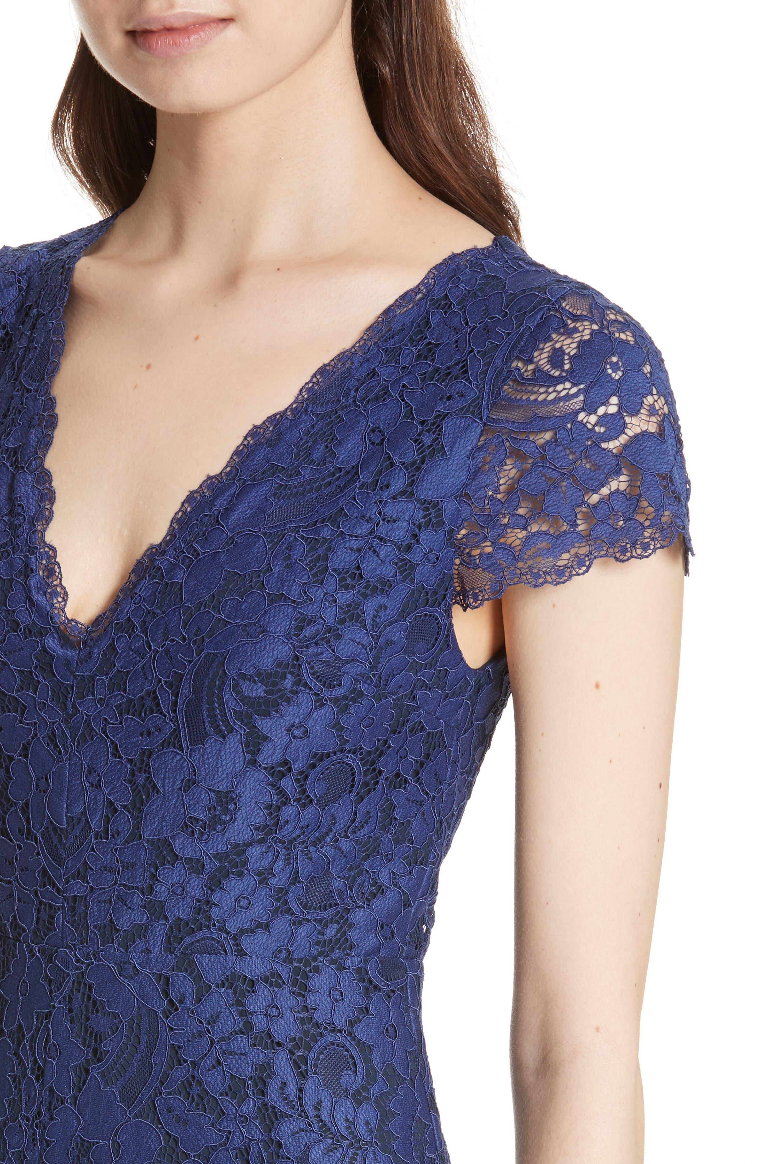 Mariam Lace Jumpsuit,                             Alternate thumbnail 4, color,                             Sapphire