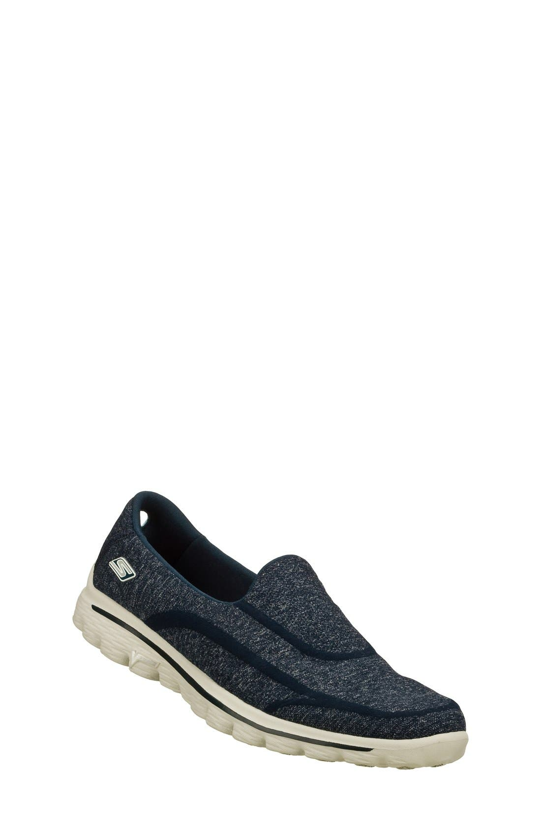 Alternate Image 1 Selected - SKECHERS 'GOwalk 2 - Super Sock' Slip-On (Women)