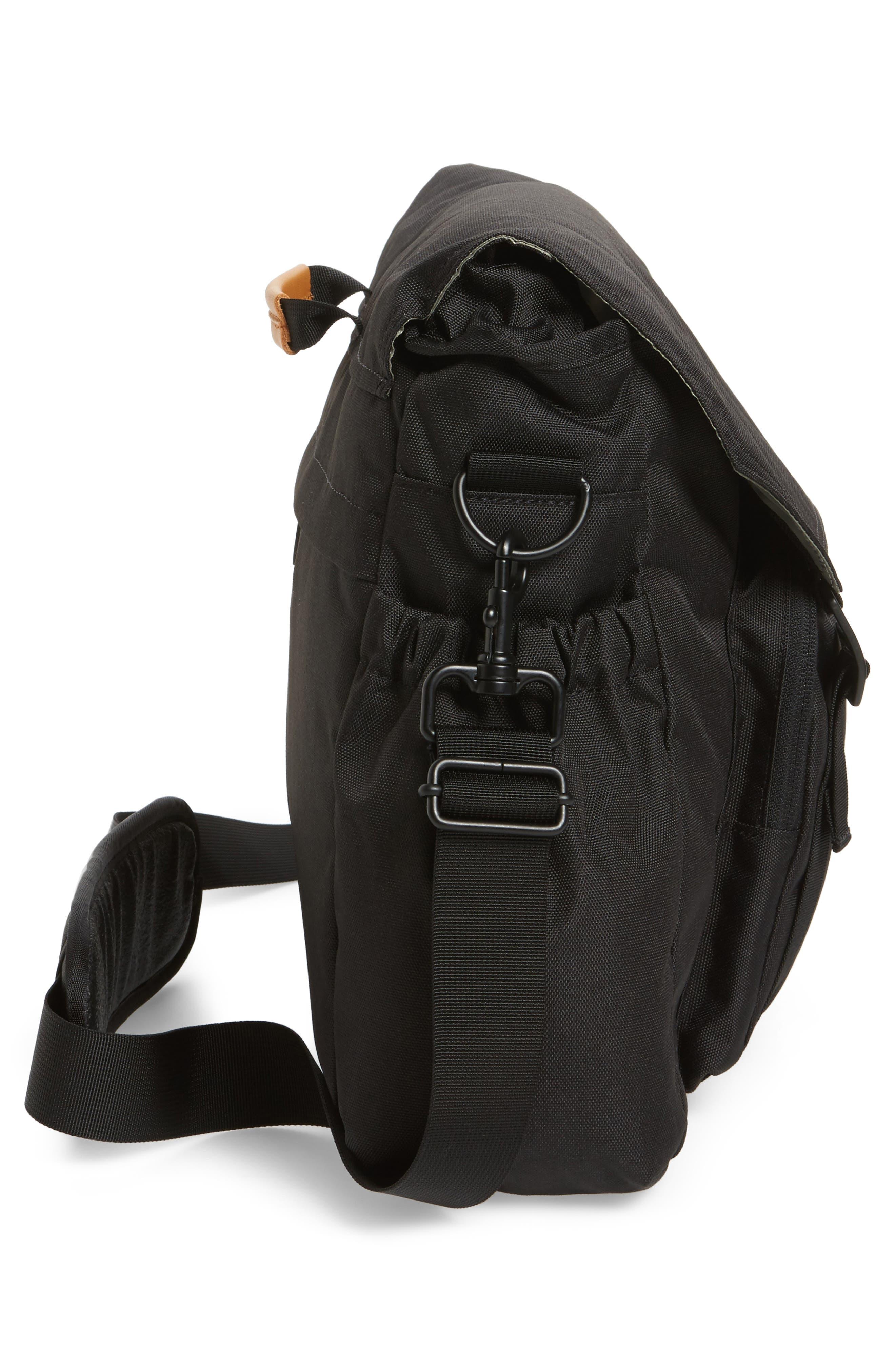 Crossridge Messenger Bag,                             Alternate thumbnail 5, color,                             Black