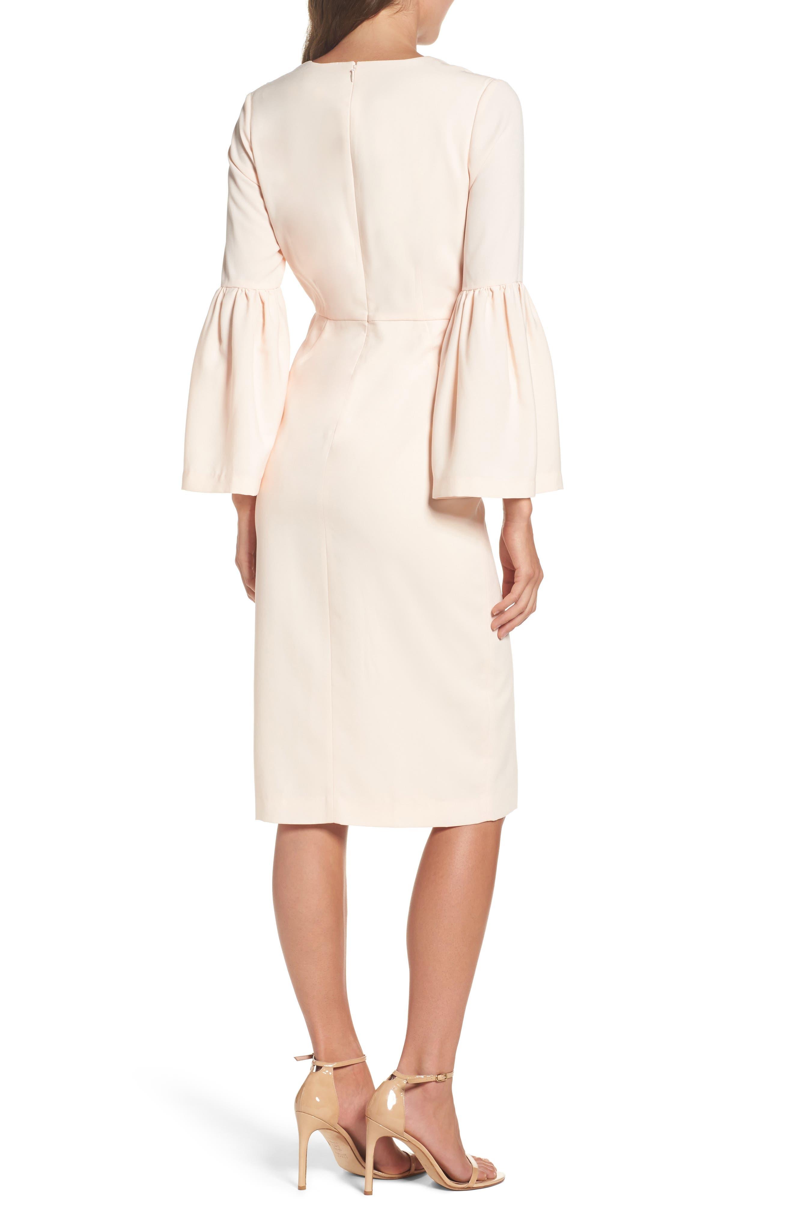 Bell Sleeve Dress,                             Alternate thumbnail 2, color,                             Powder