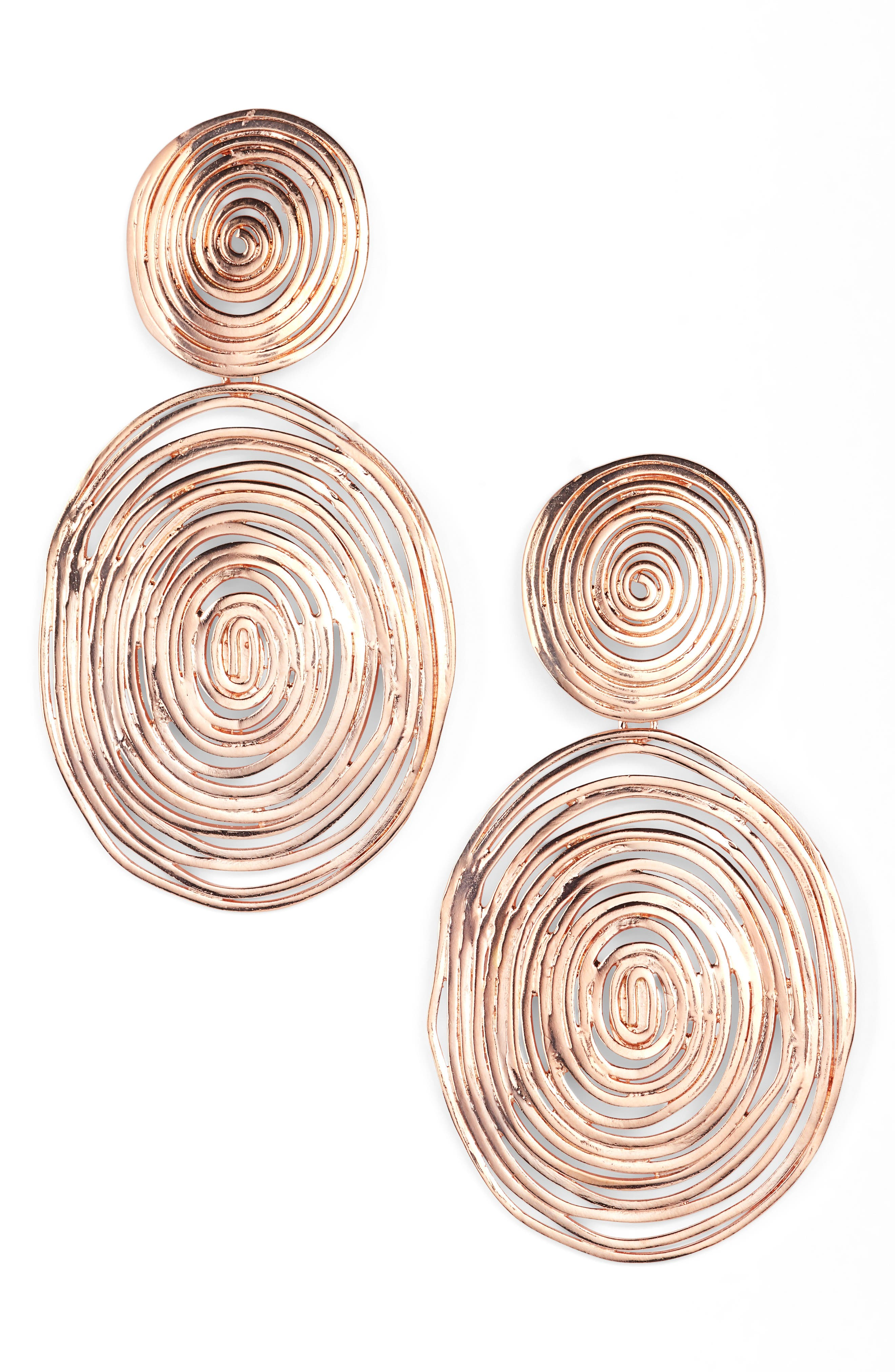 GAS BIJOUX Wave Double Drop Earrings