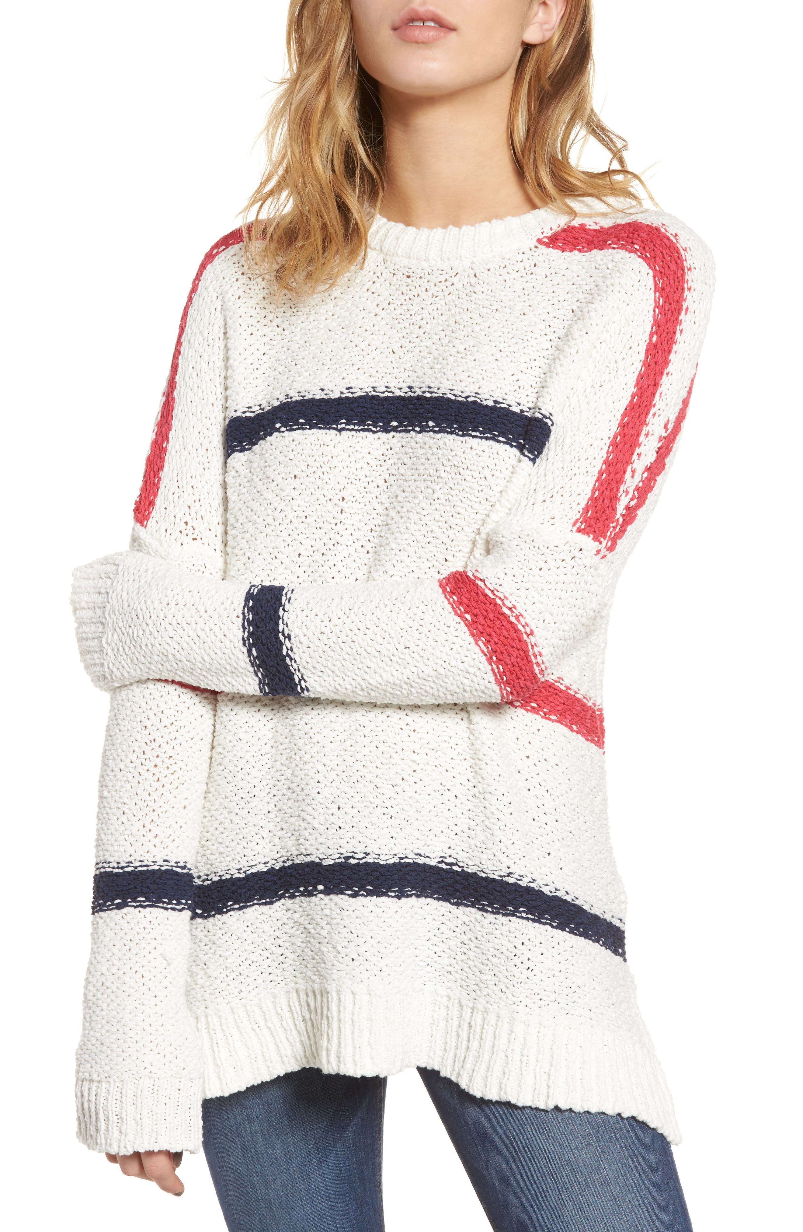 Main Image - cupcakes and cashmere Madden Stripe Sweater