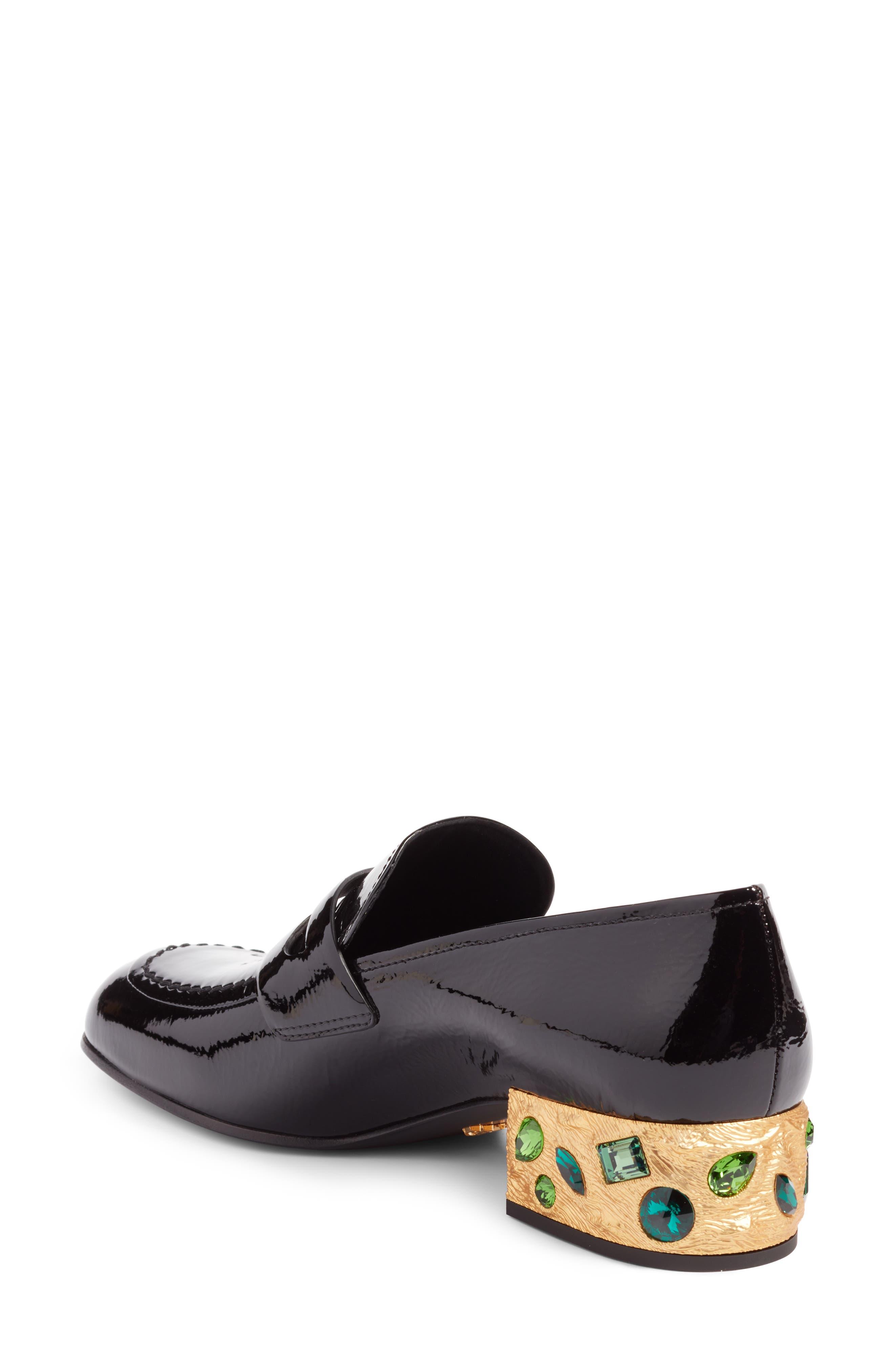 Embellished Loafer,                             Alternate thumbnail 2, color,                             Black