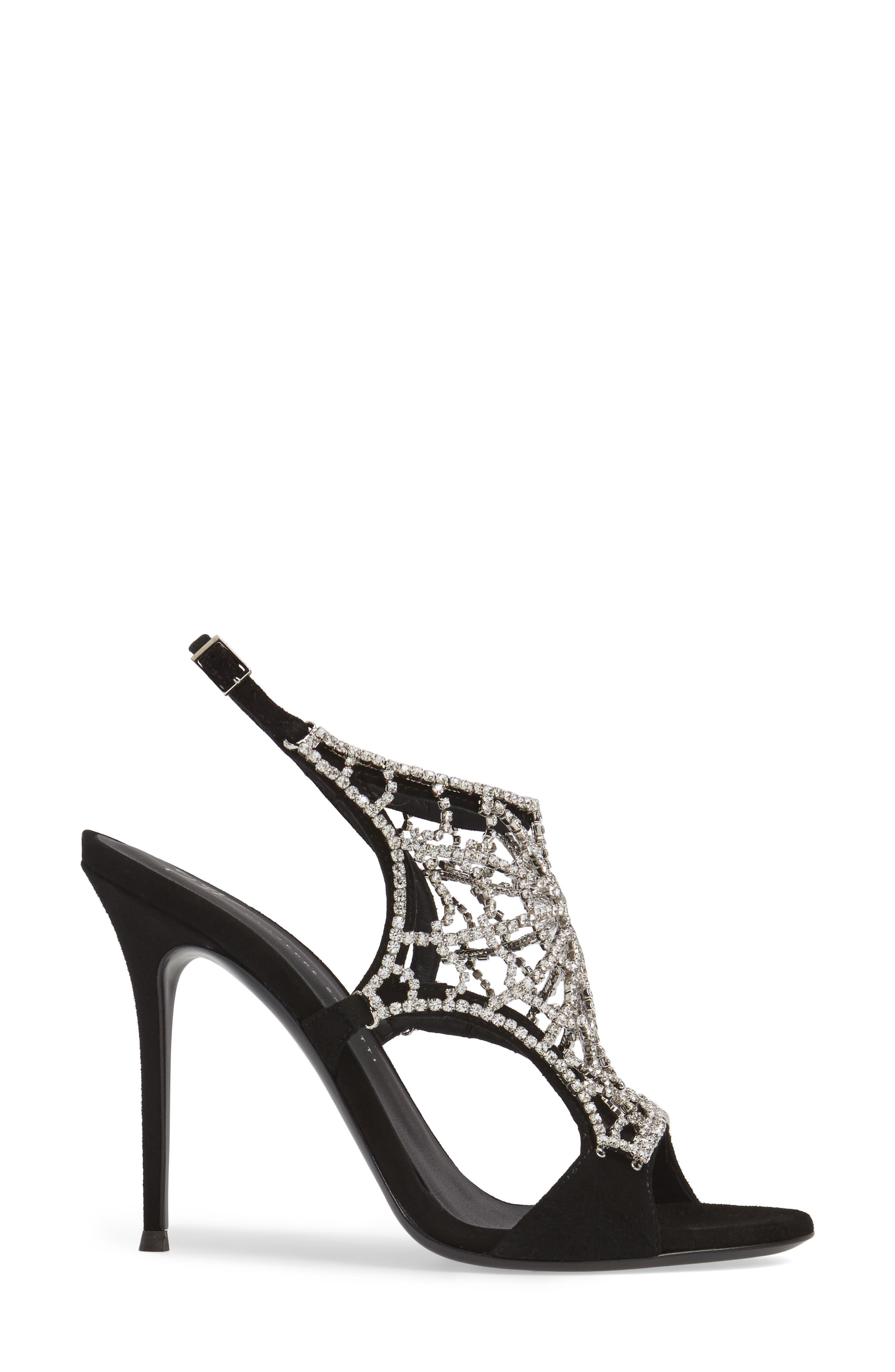 Alternate Image 3  - Giuseppe Zanotti Embellished Spiderweb Sandal (Women)