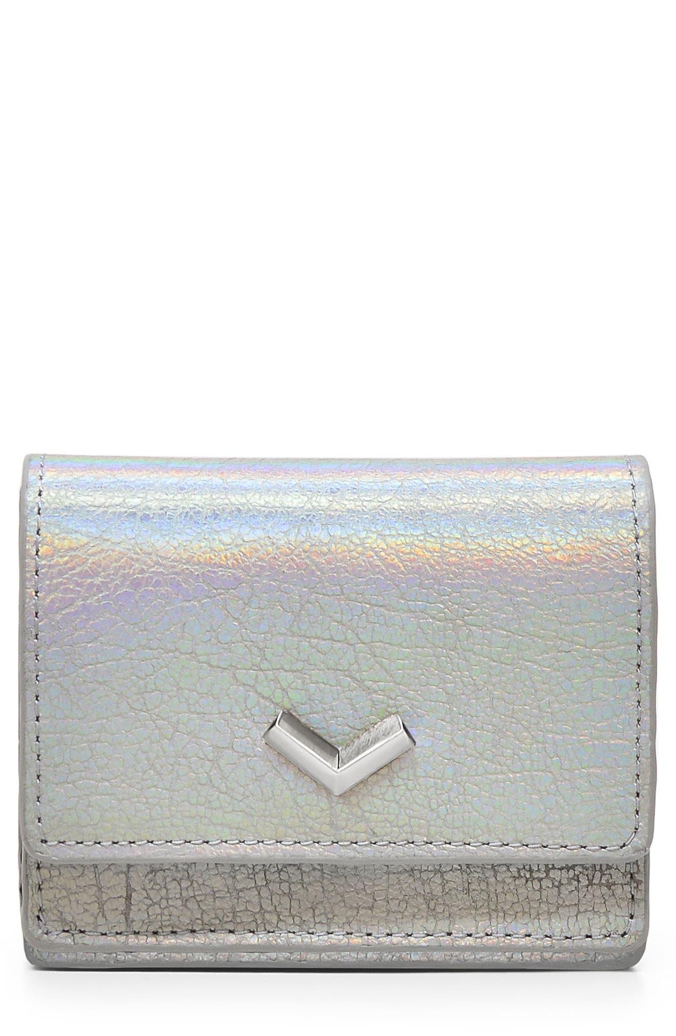 Soho Mini Leather Wallet,                         Main,                         color, Hologram
