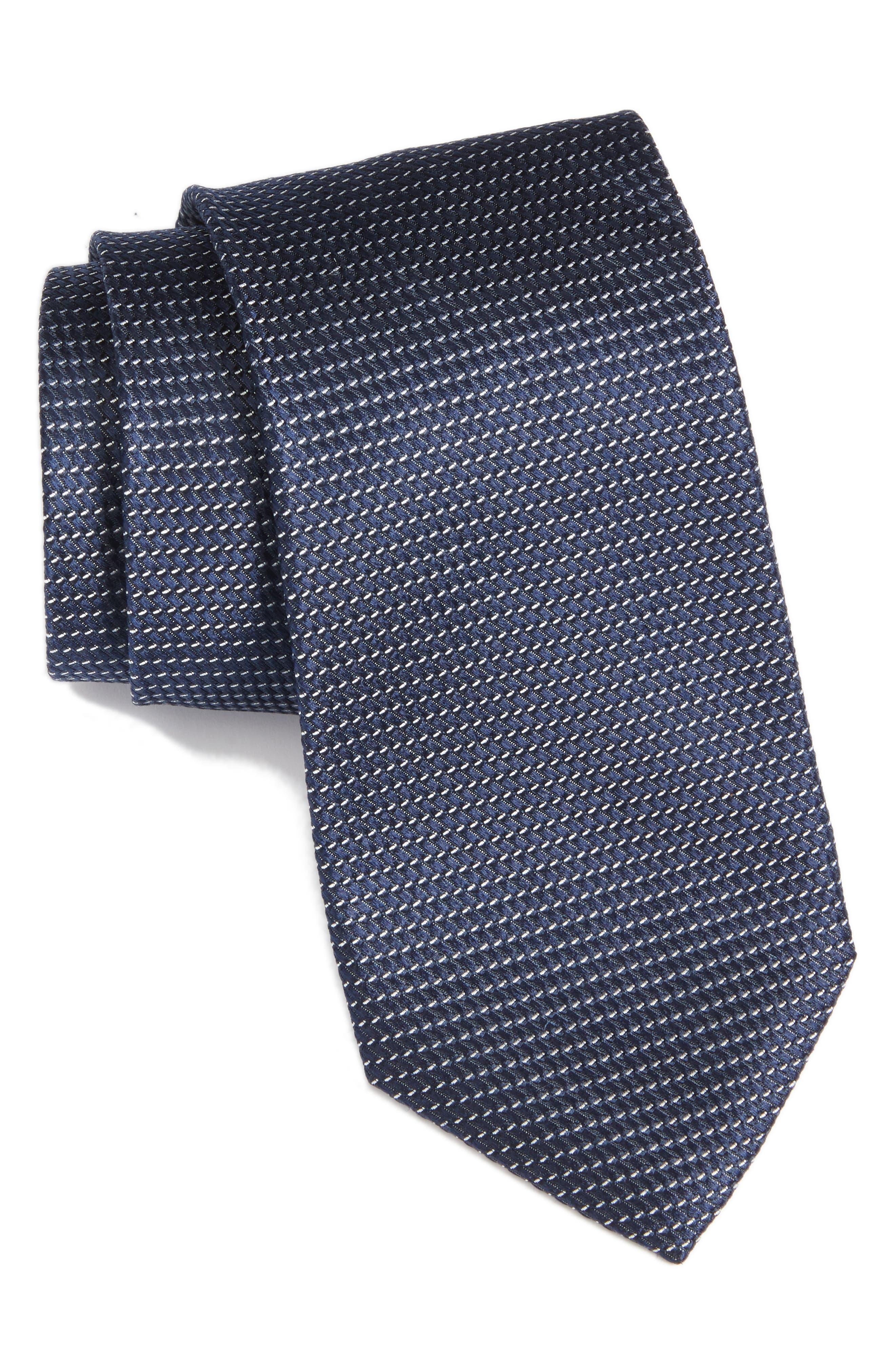 Chiana Mini Silk Tie,                         Main,                         color, Navy