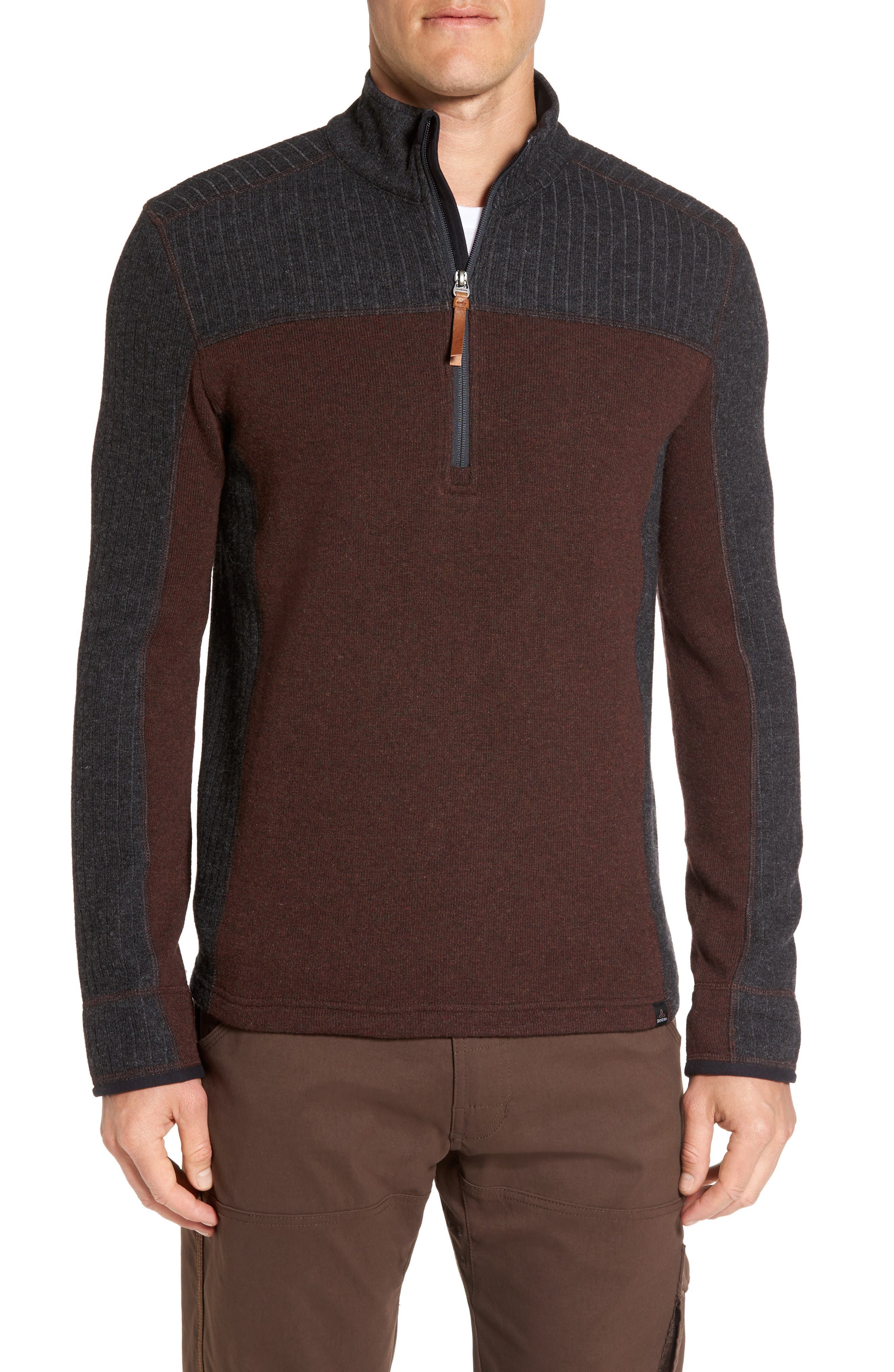 Wentworth Quarter Zip Pullover,                             Main thumbnail 1, color,                             Cocoa