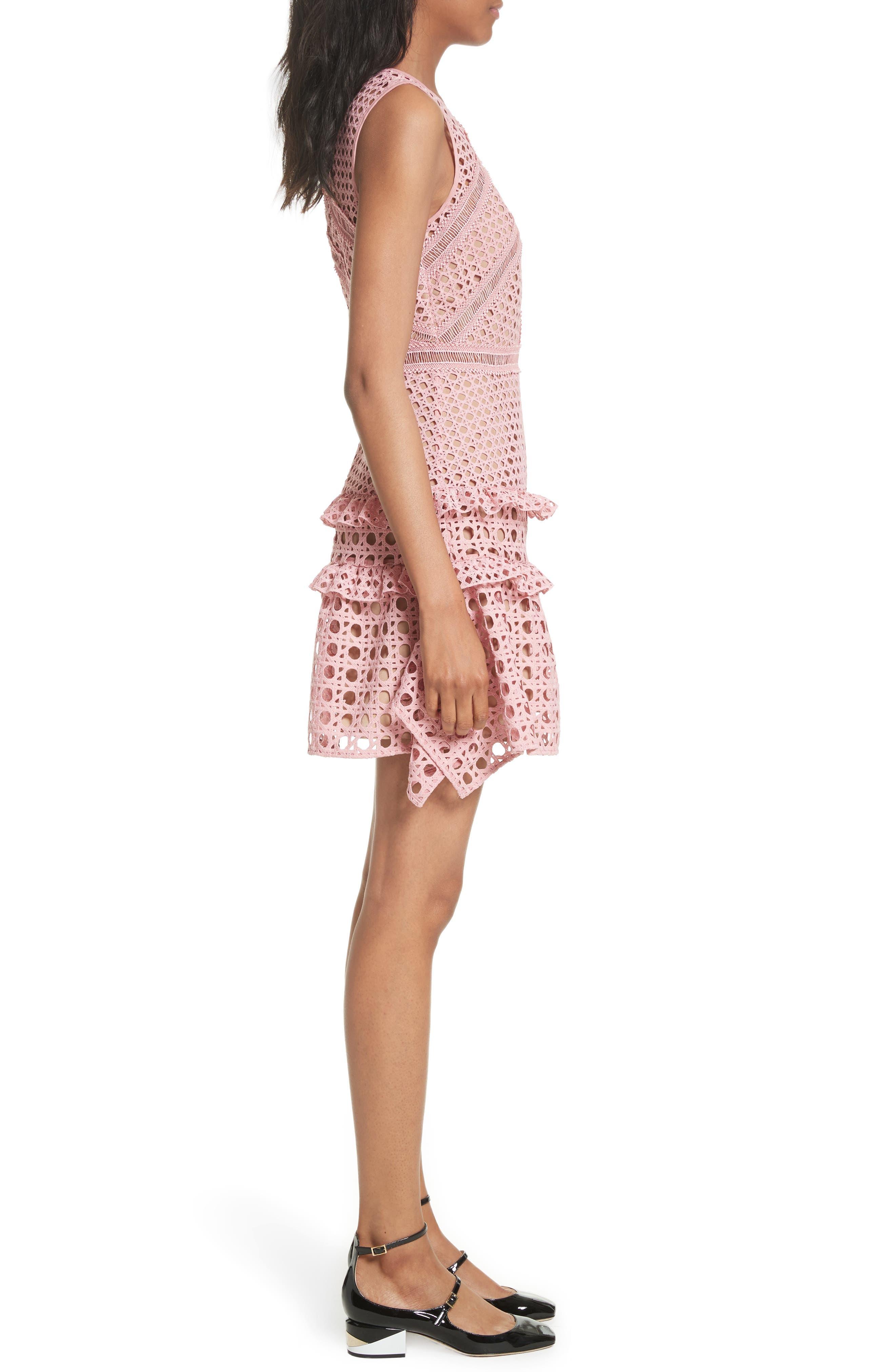 Alternate Image 3  - Self-Portrait Crosshatch Frill Minidress