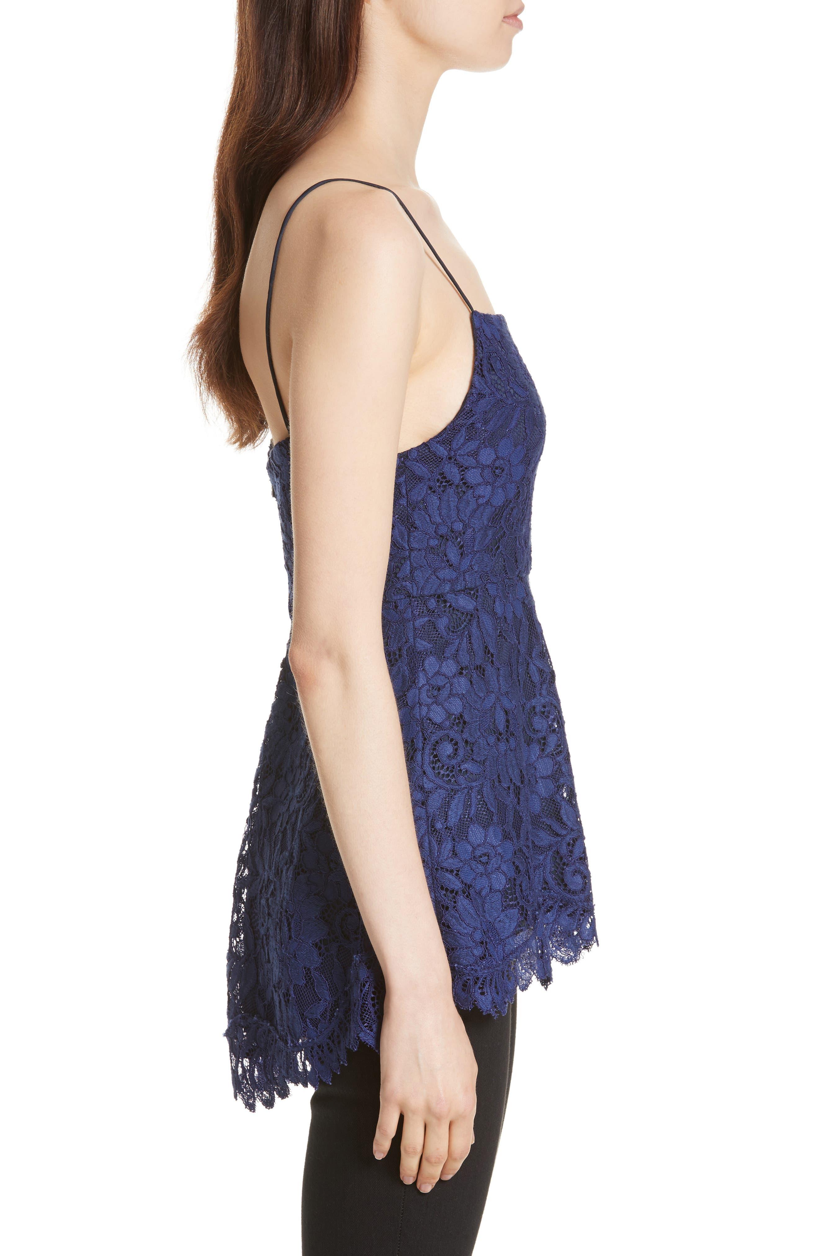 Alternate Image 3  - Alice + Olivia Maxine Lace Peplum Camisole