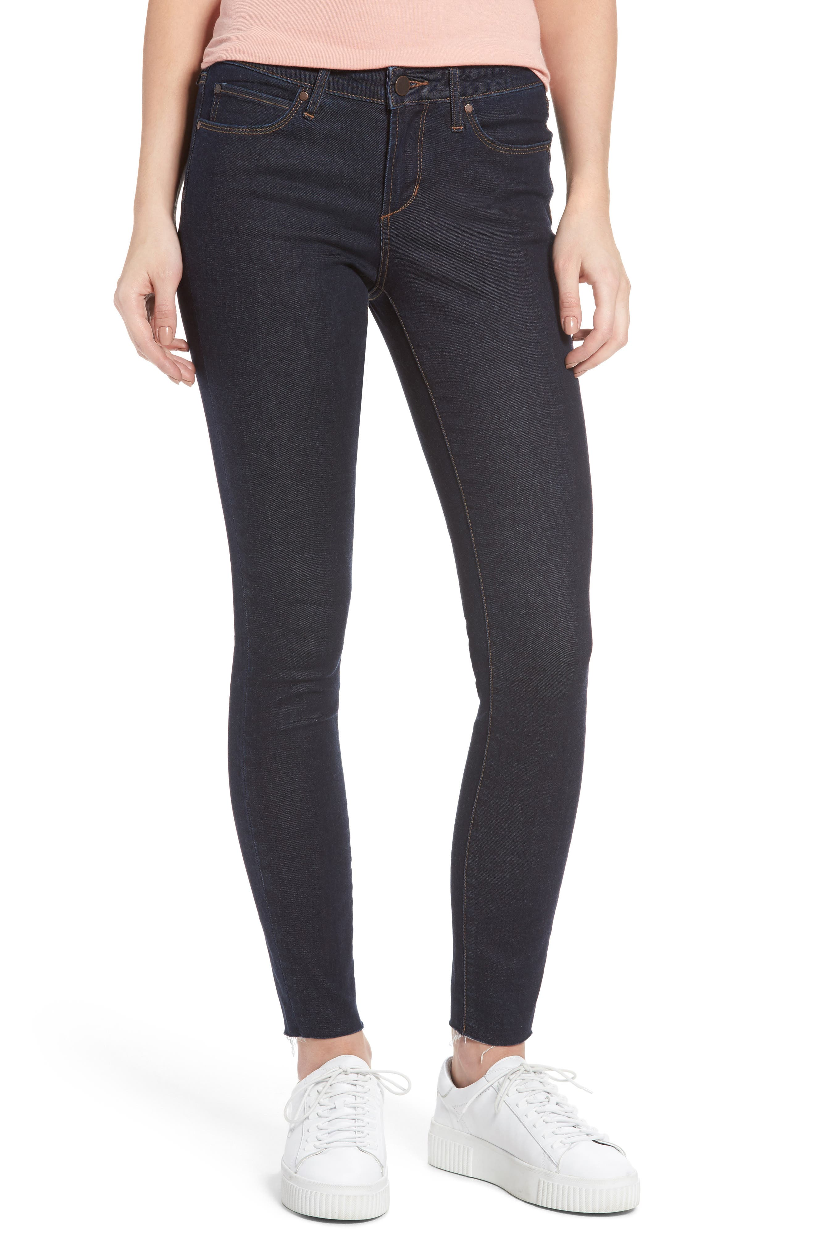 Main Image - Articles of Society Sarah Ankle Skinny Jeans (Elm)