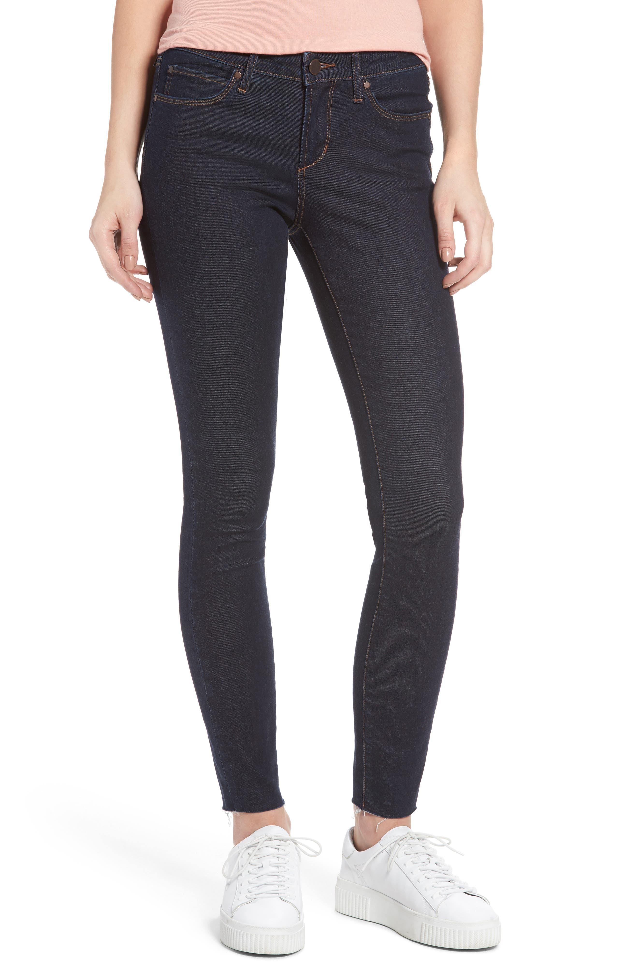Sarah Ankle Skinny Jeans,                         Main,                         color, Elm