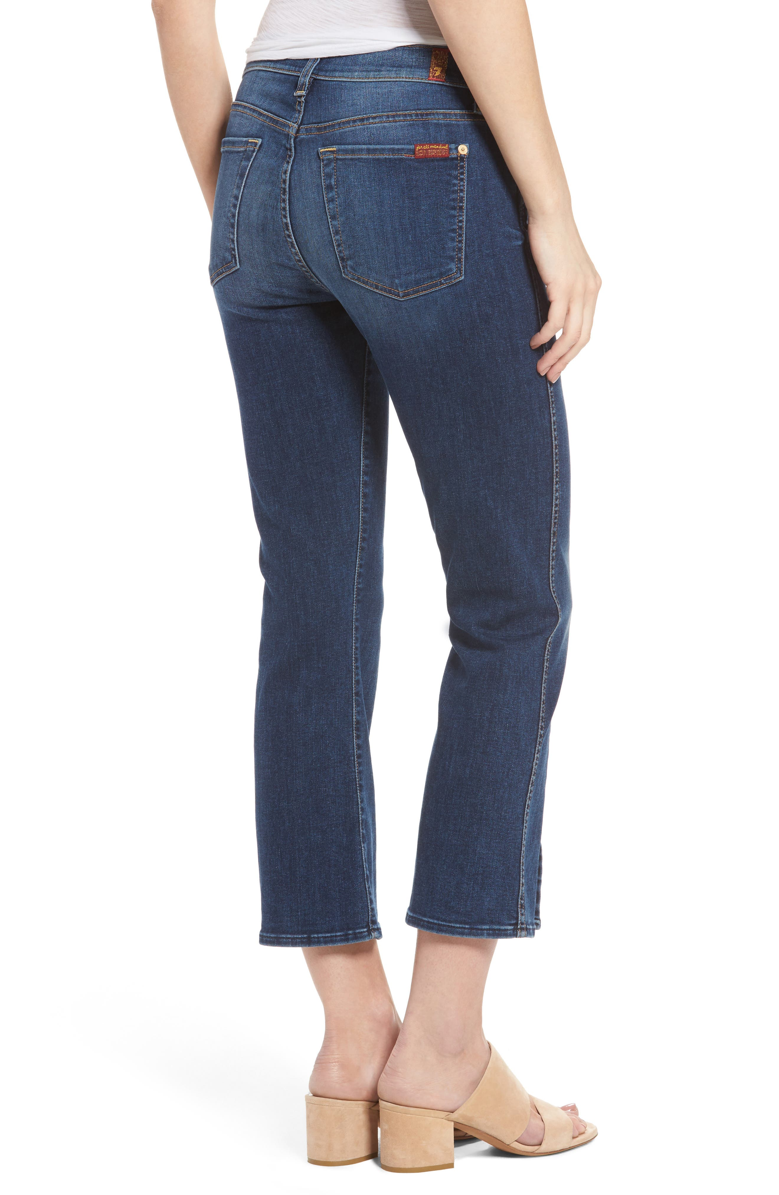 Alternate Image 2  - 7 For All Mankind® Crop Bootcut Jeans (Stunning Bleeker)