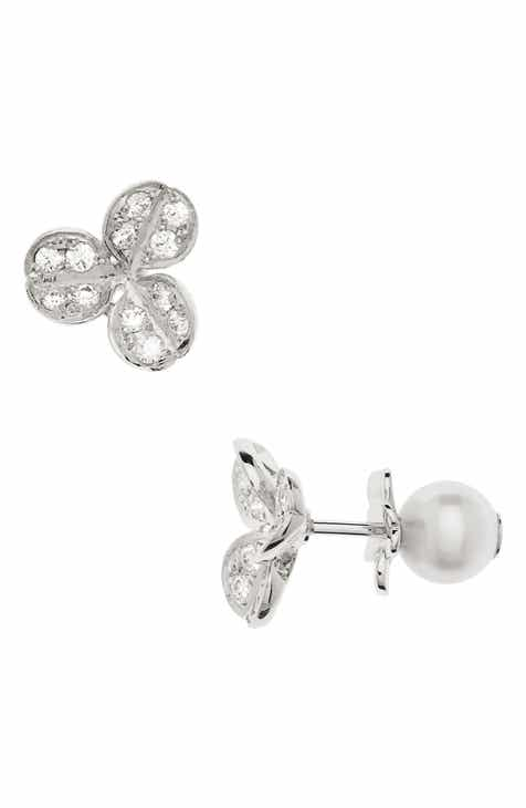 white gold mikimoto stud product with lee perla diamond earrings pearl