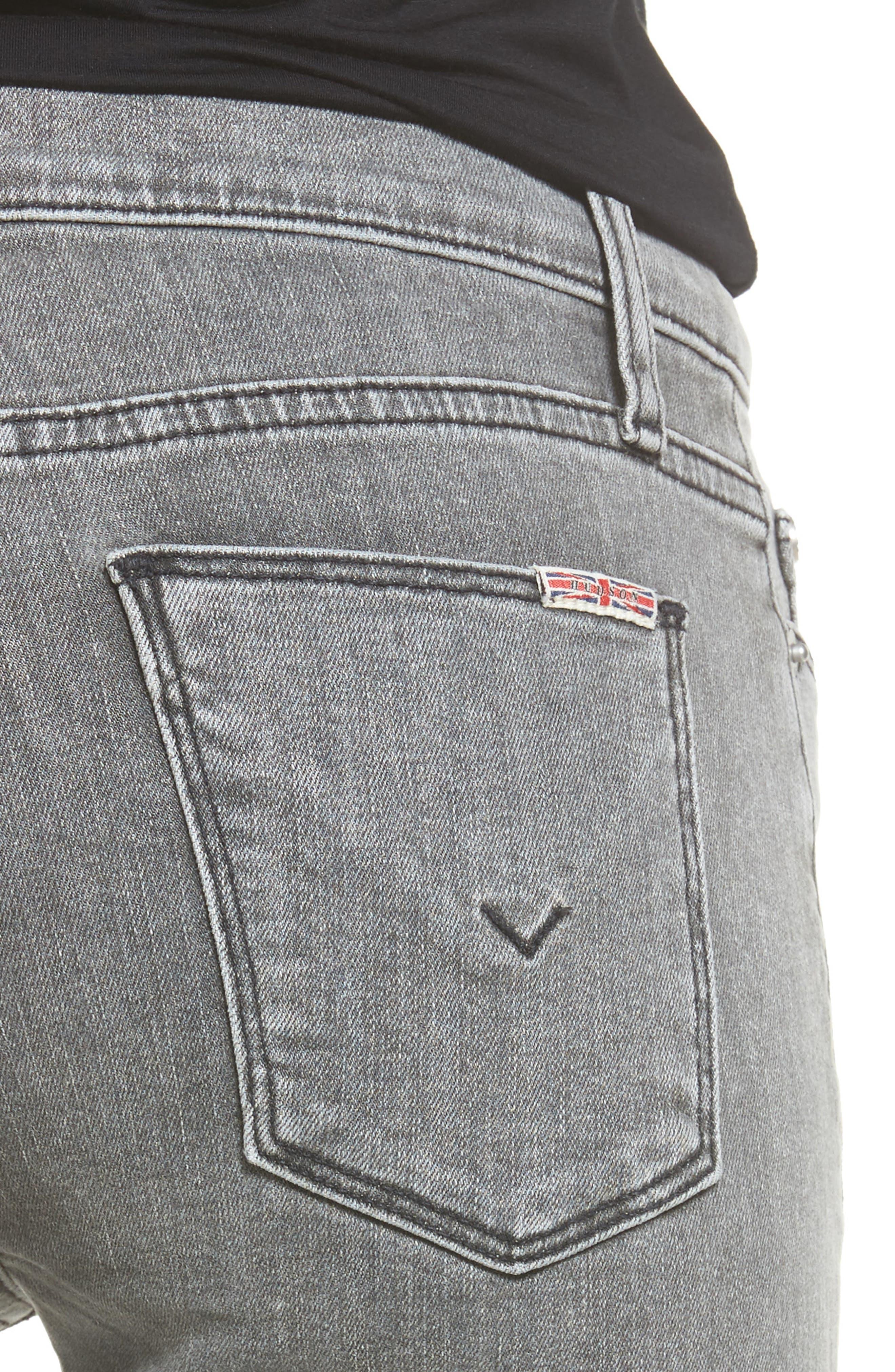 Hudson Nico Ankle Super Skinny Jeans,                             Alternate thumbnail 4, color,                             Glossier
