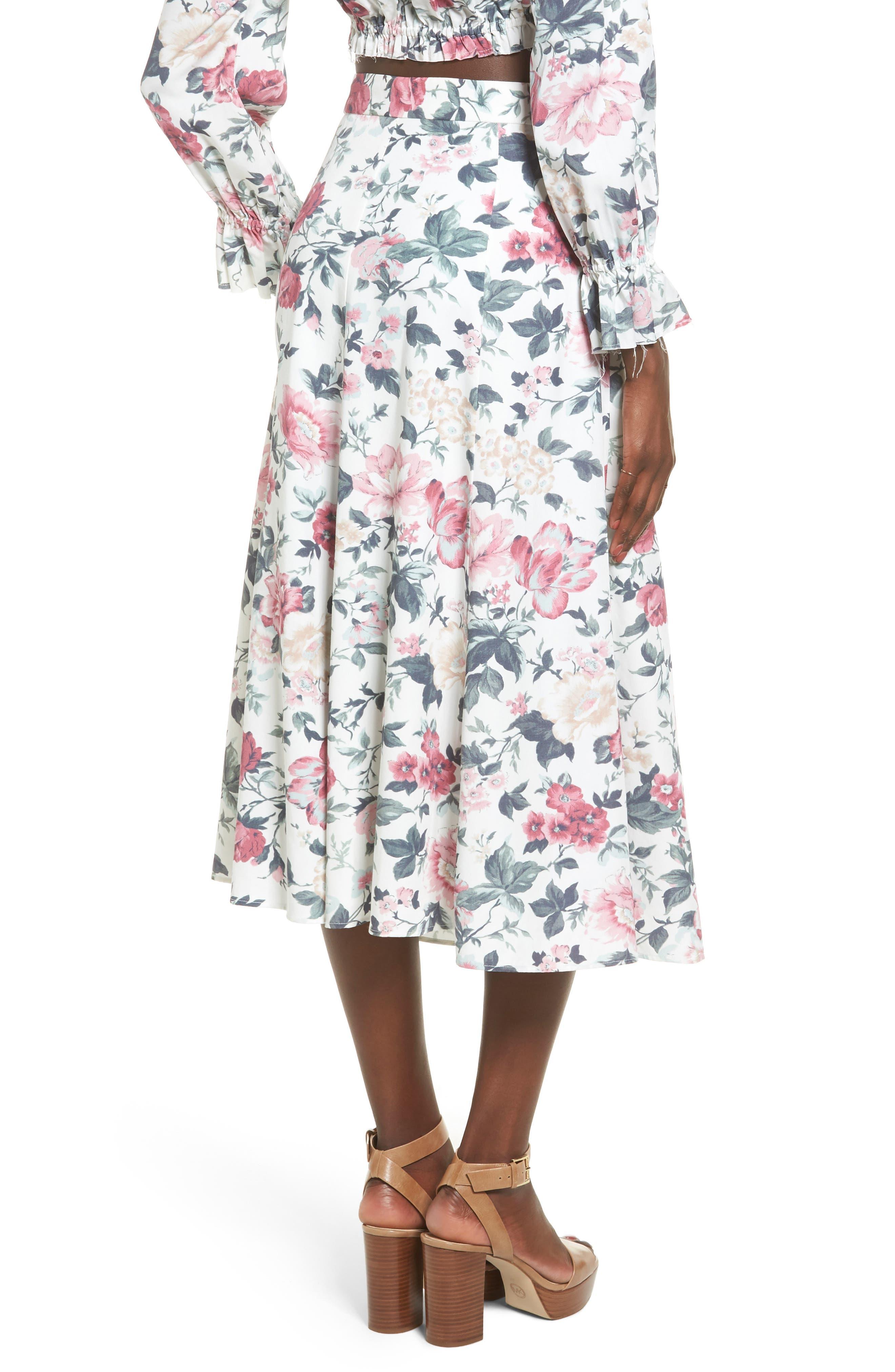 Sunday Midi Skirt,                             Alternate thumbnail 3, color,                             Carnation