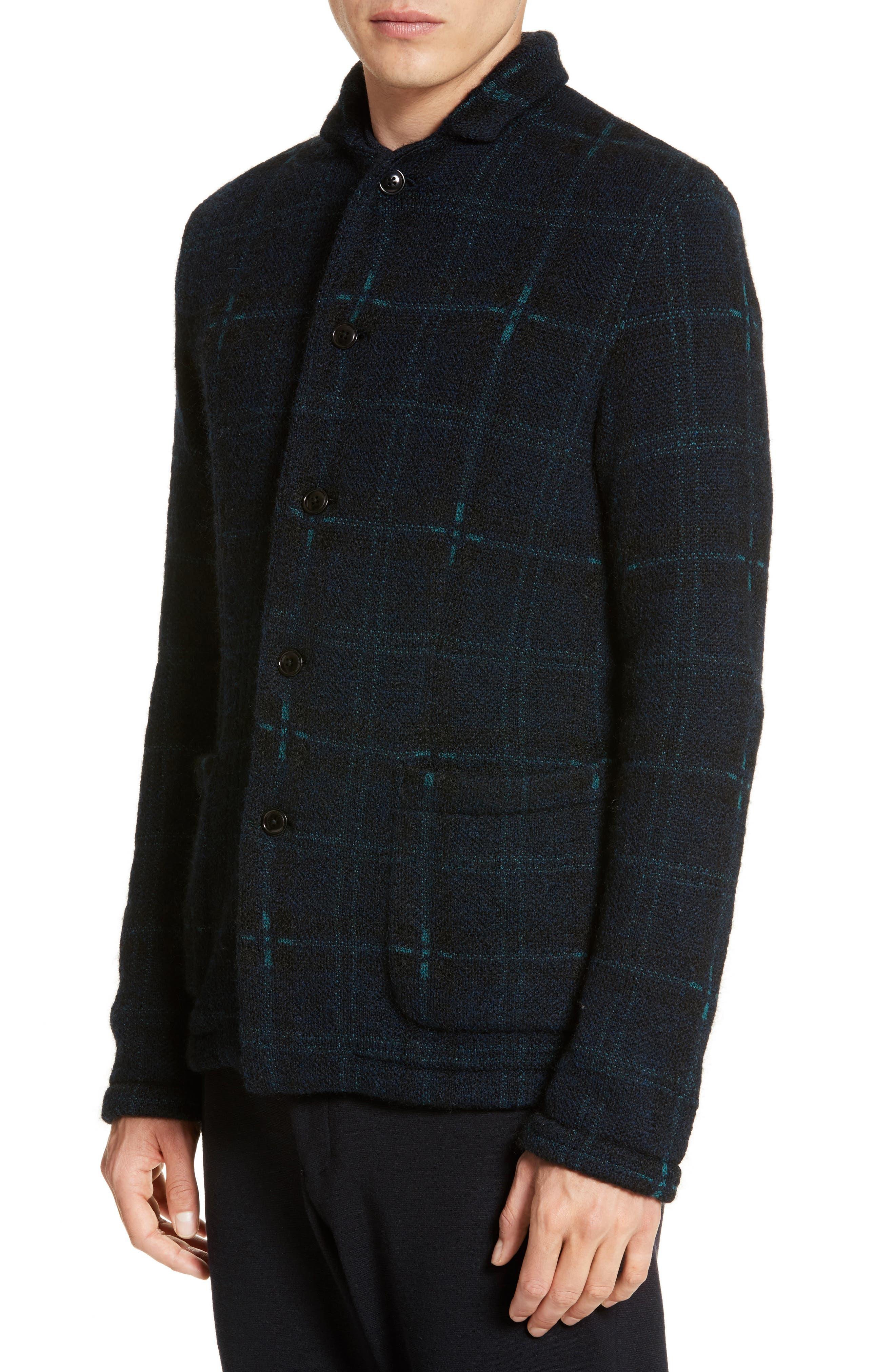 Wool Blend Knit Sportcoat,                             Alternate thumbnail 4, color,                             Navy
