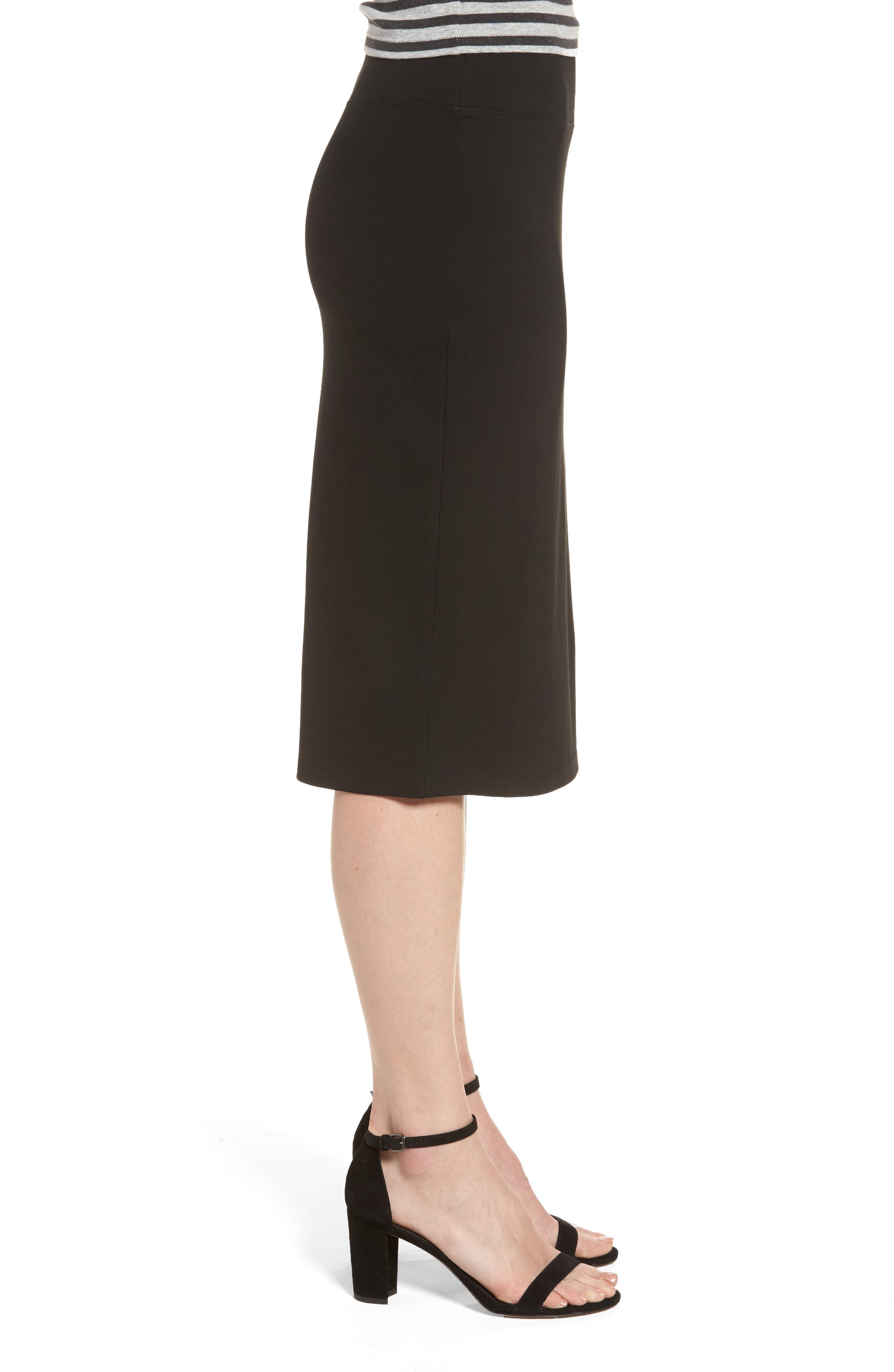 Alternate Image 3  - Halogen® Ponte Pencil Skirt (Regular & Petite)