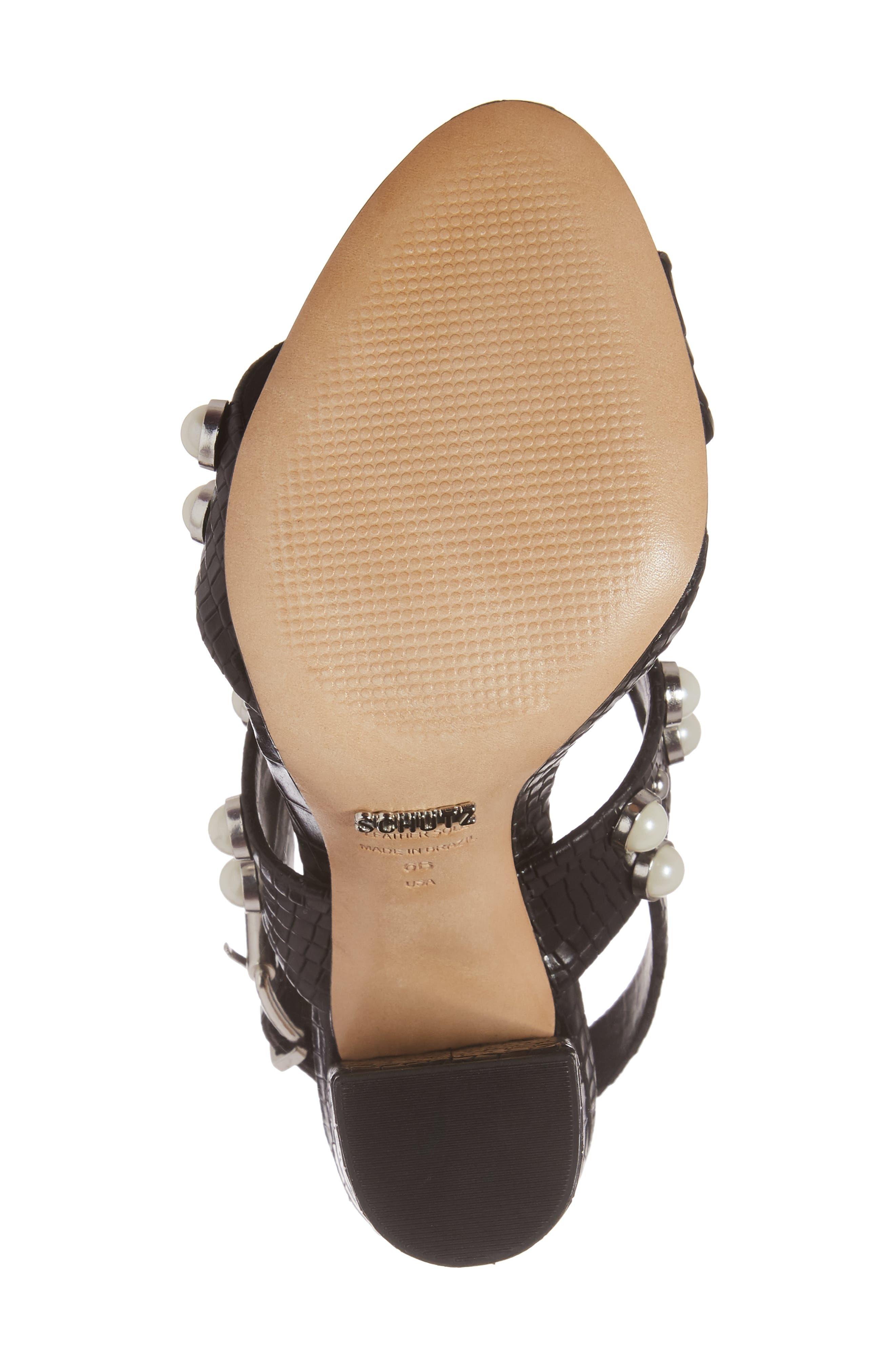 Alternate Image 6  - Schutz Zarita Imitation Pearl Embellished Sandal (Women)