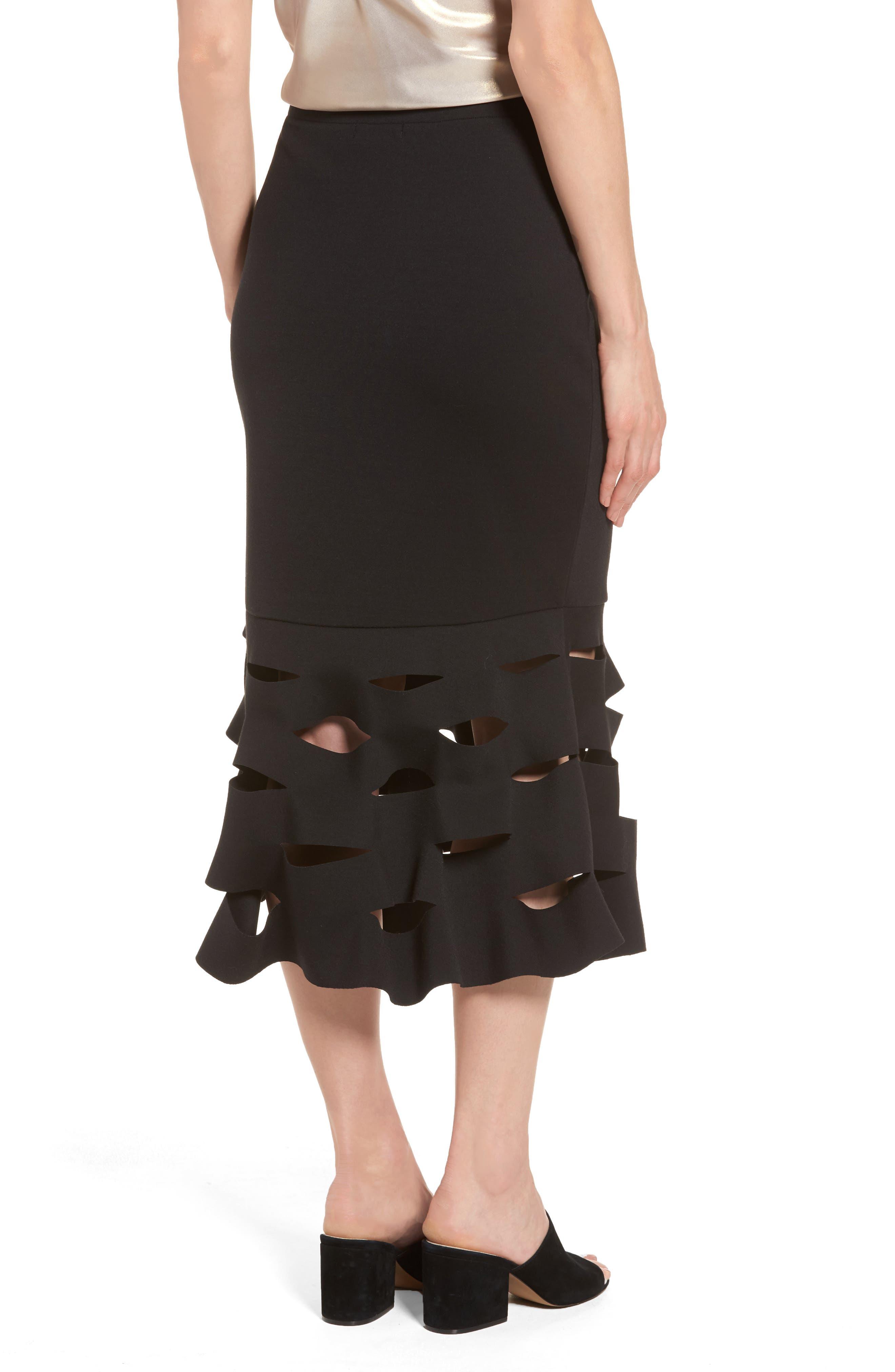 Alternate Image 2  - Trouvé Slash Bonded Midi Skirt