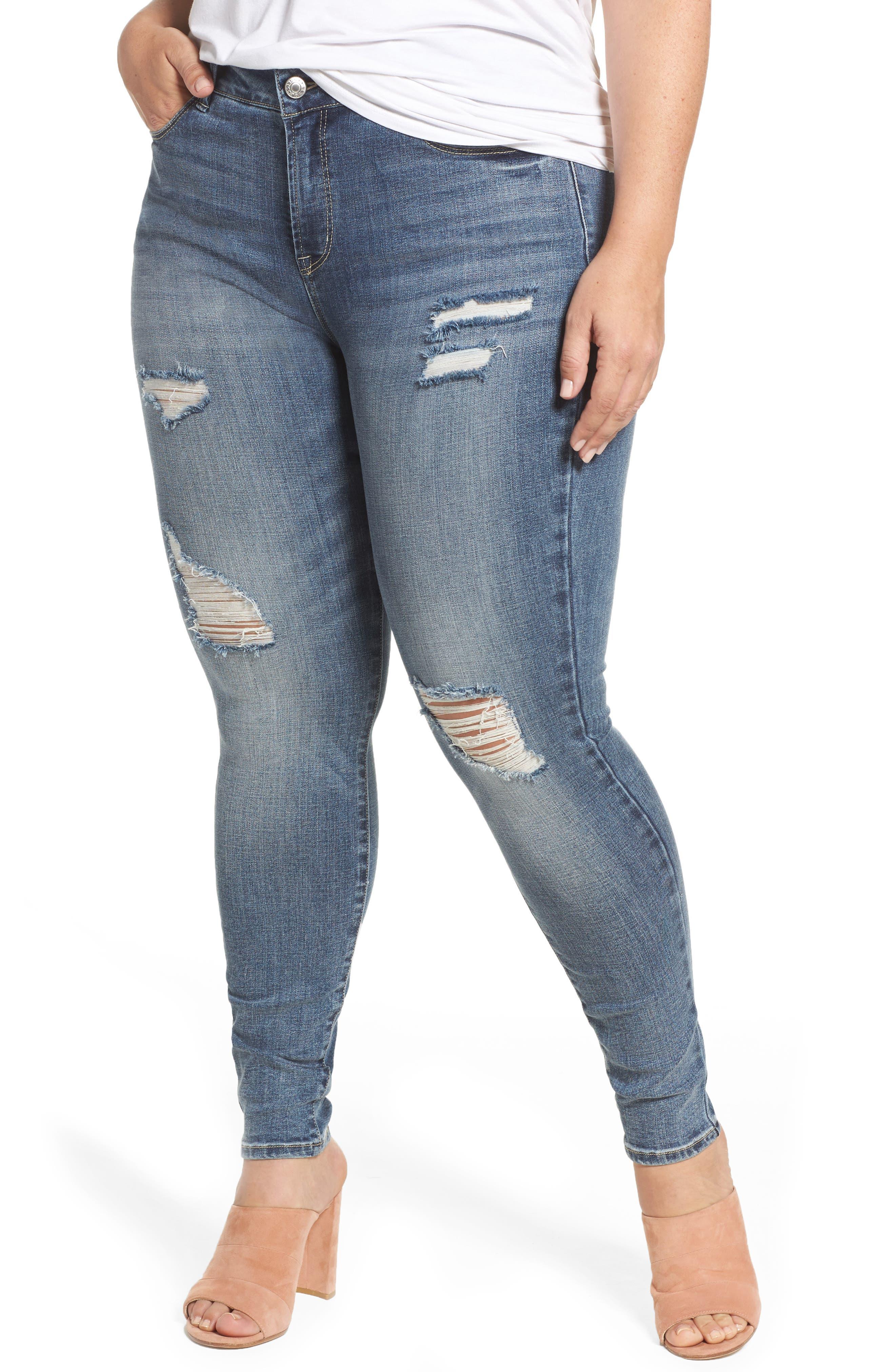 The Pin Up Super Skinny Jeans,                         Main,                         color, Ocean