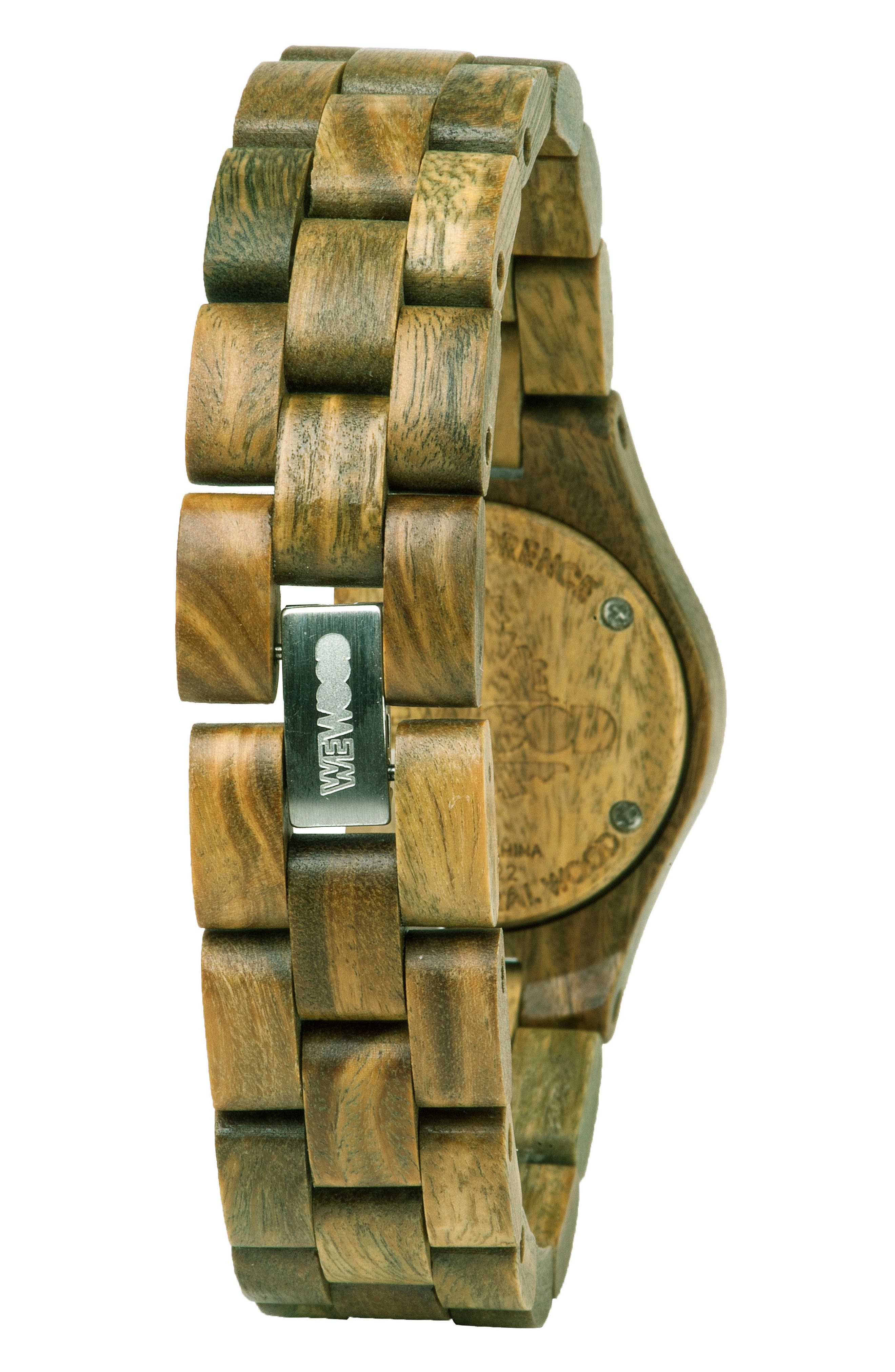 Criss Wood Bracelet Watch, 31mm,                             Alternate thumbnail 2, color,                             Green