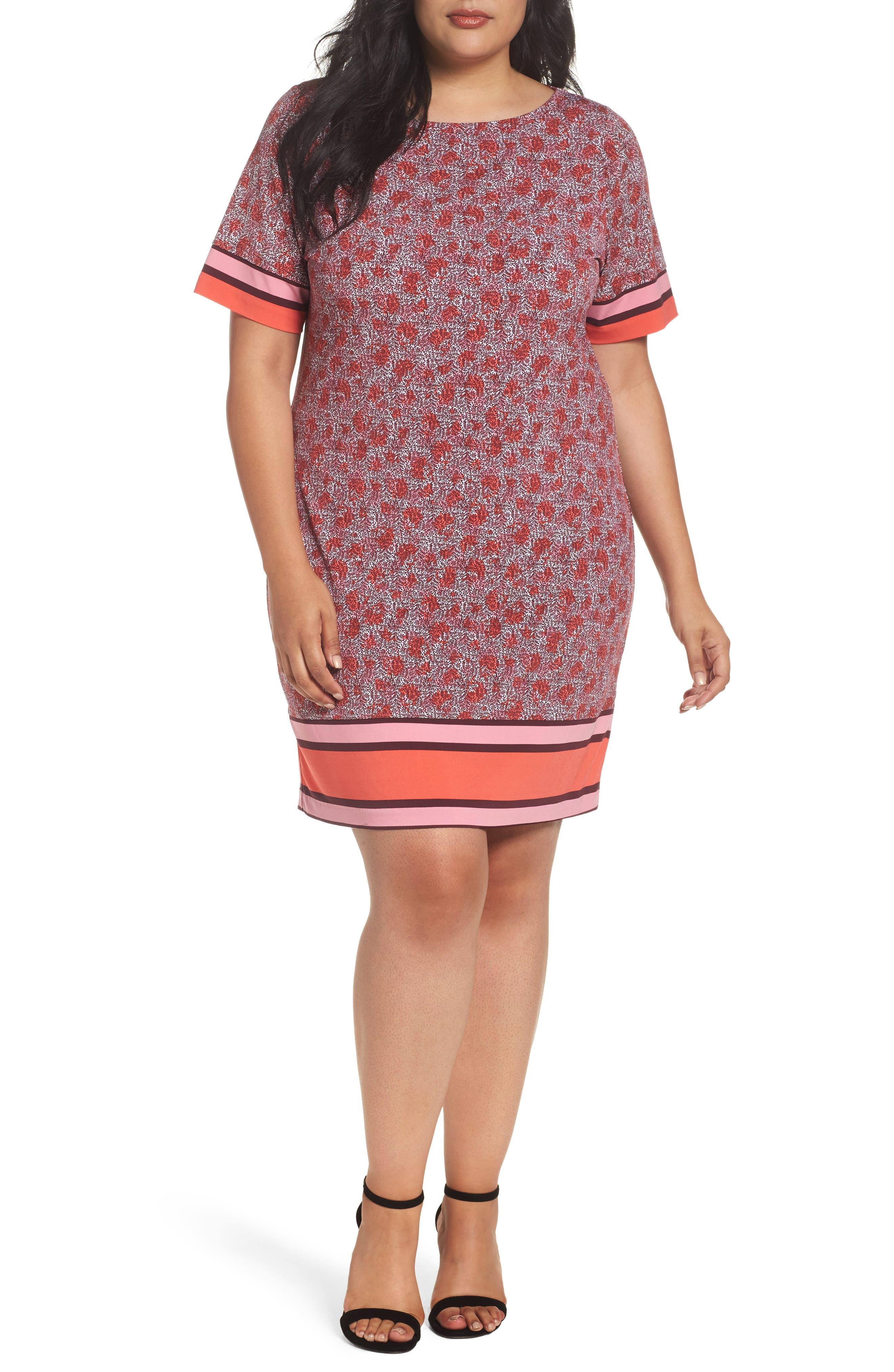 MICHAEL Michael Kors Augusta Sheath Dress (Plus Size)
