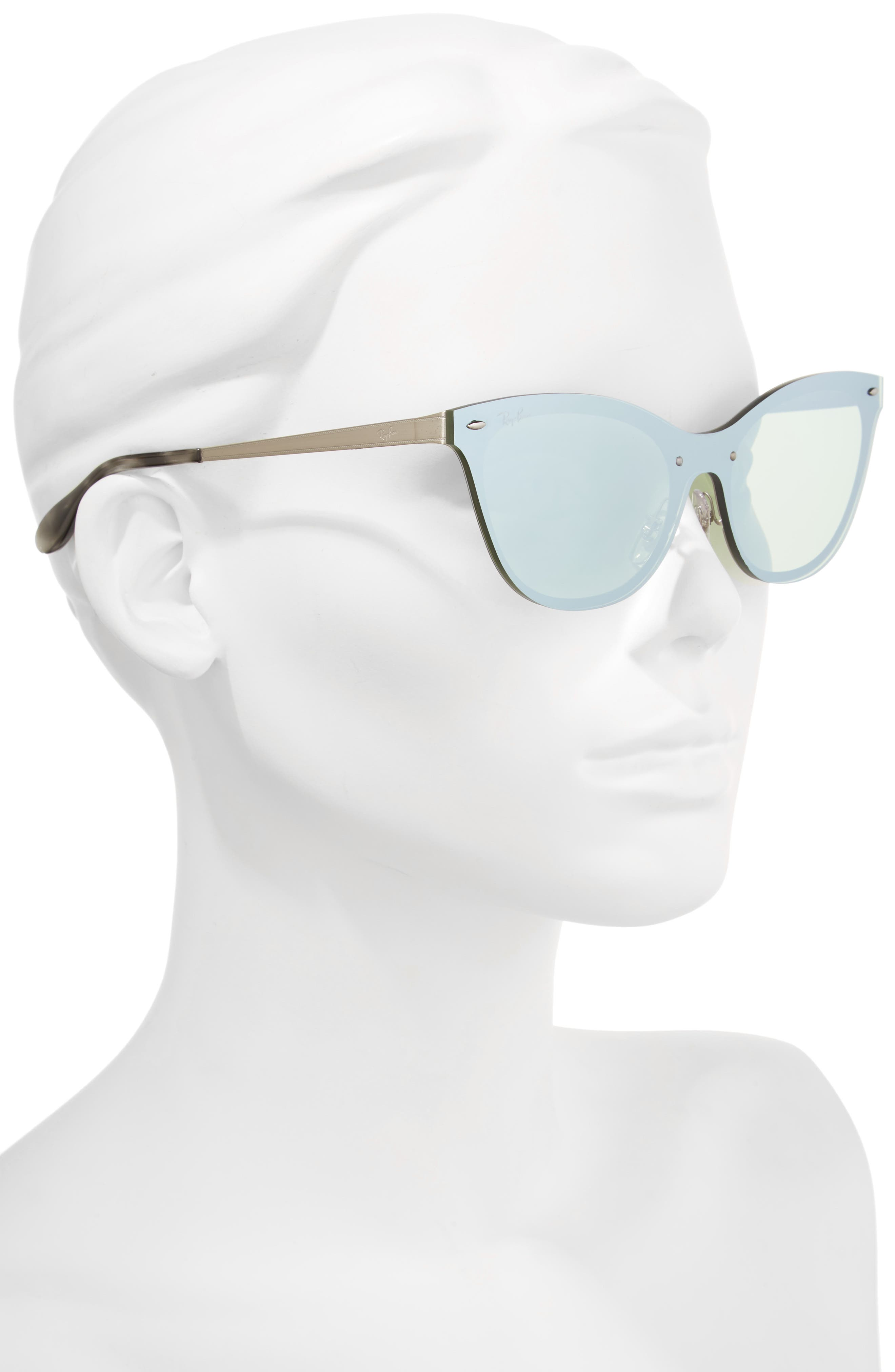 Alternate Image 2  - Ray-Ban 50mm Blaze Clubmaster Mirrored Sunglasses