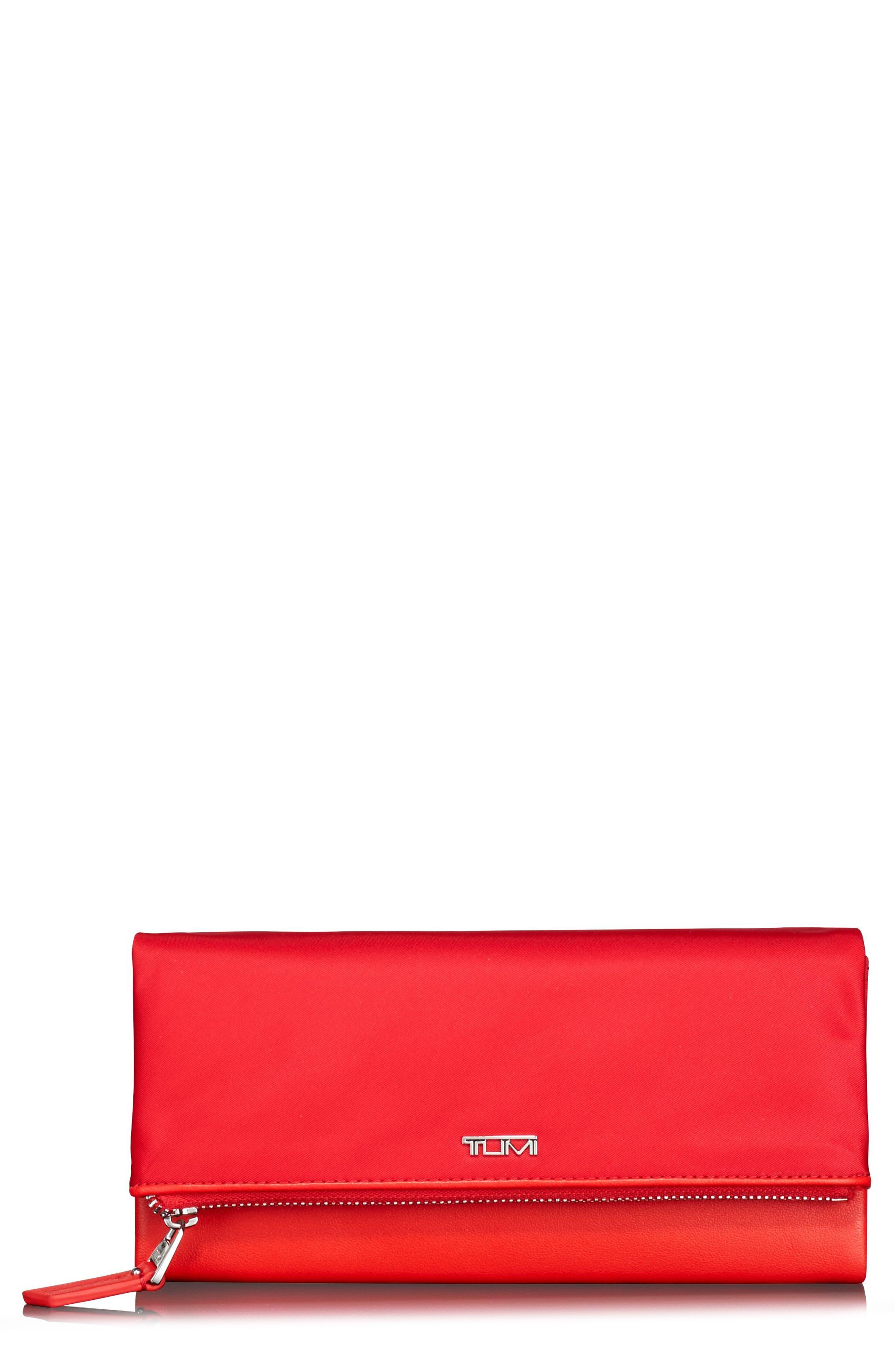 Continental Flap Tech Wallet,                             Main thumbnail 1, color,                             Hot Pink