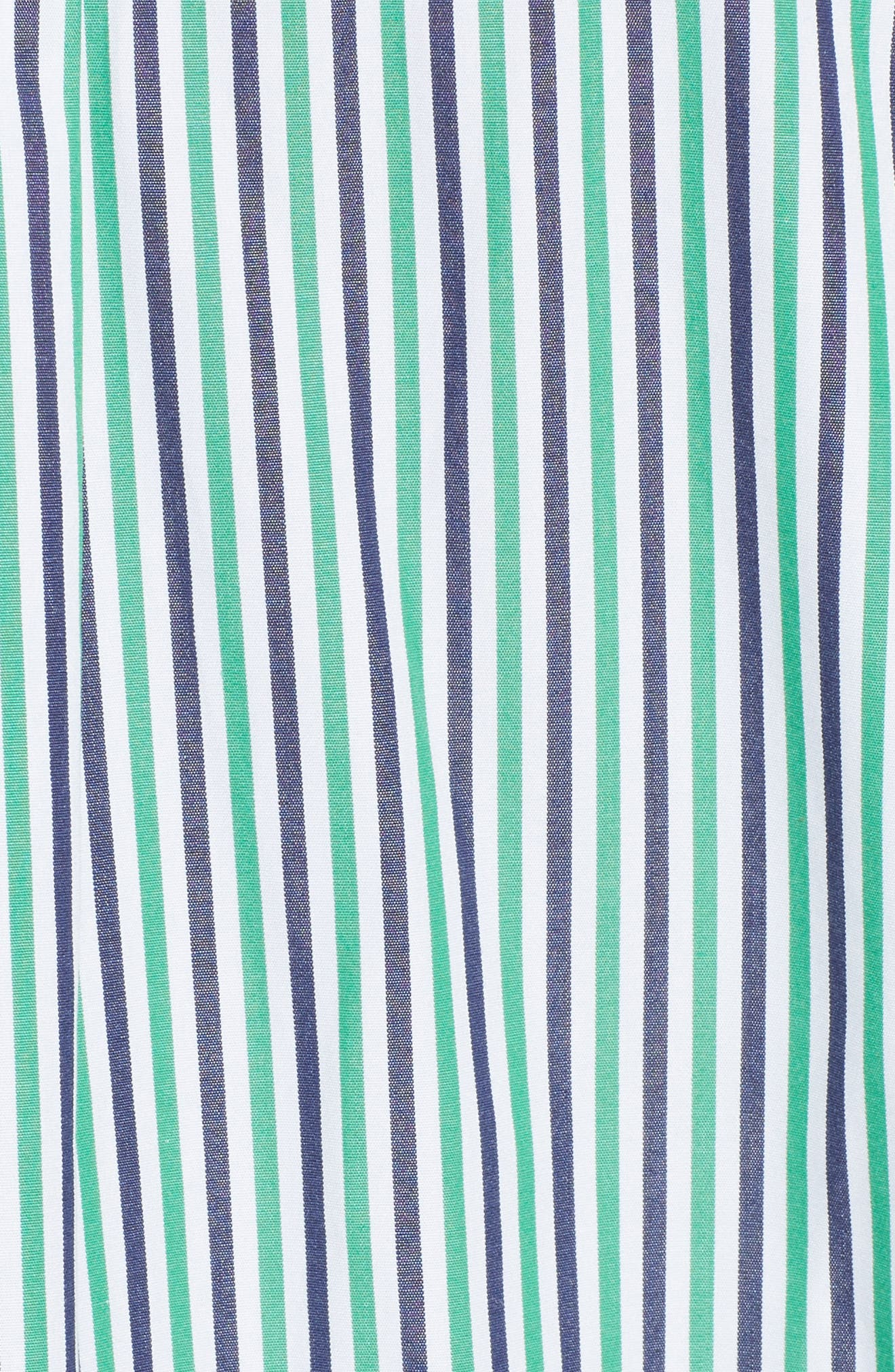 Fractured Stripe Shirt,                             Alternate thumbnail 6, color,                             Emerald