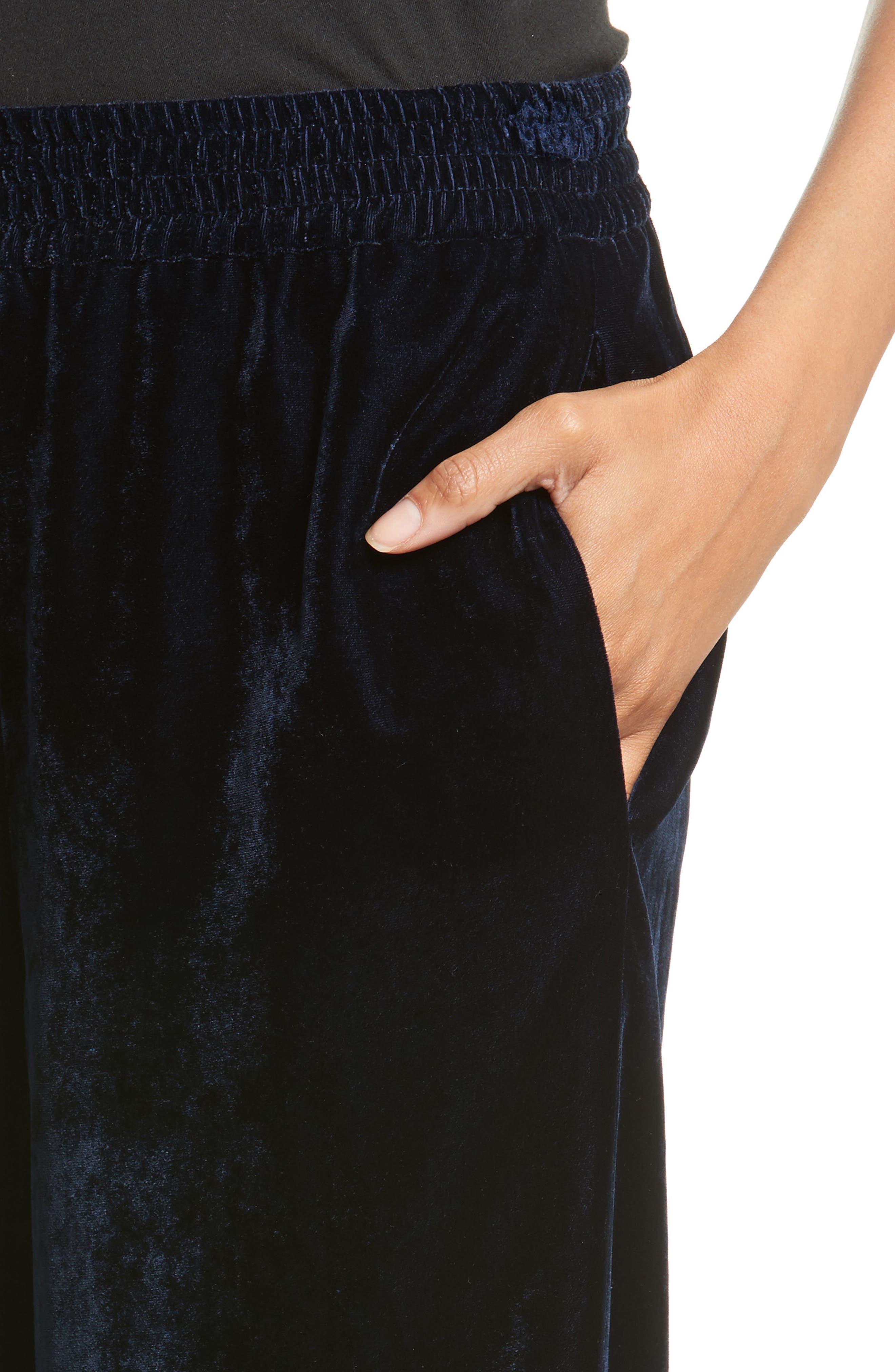 Alternate Image 4  - Nili Lotan Harlow Sandwashed Velvet Pants