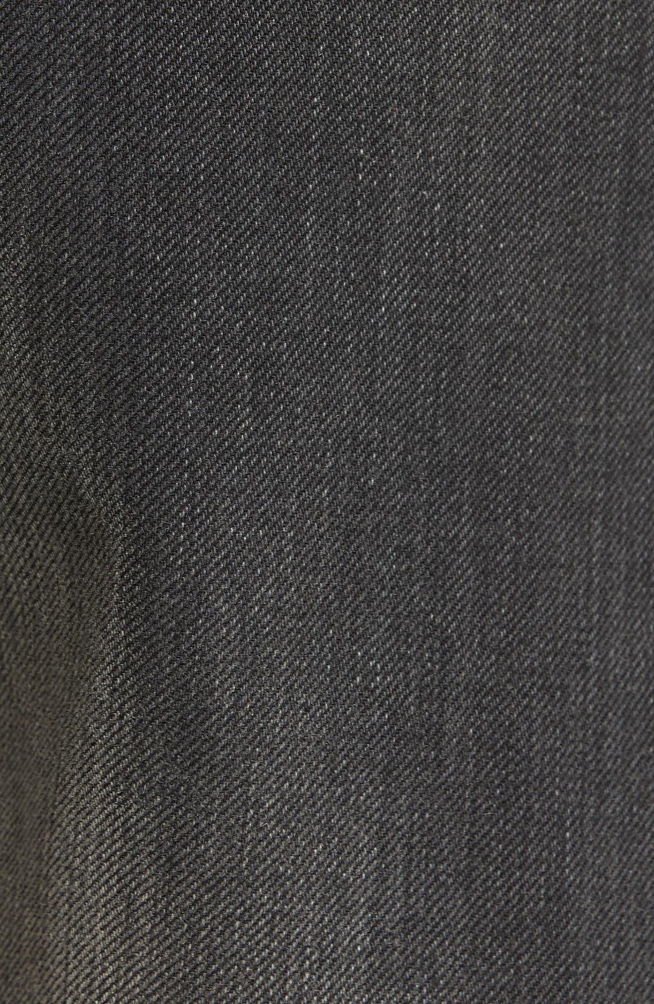 Alternate Image 5  - Nili Lotan Ena Side Button Detail Wide Leg Jeans