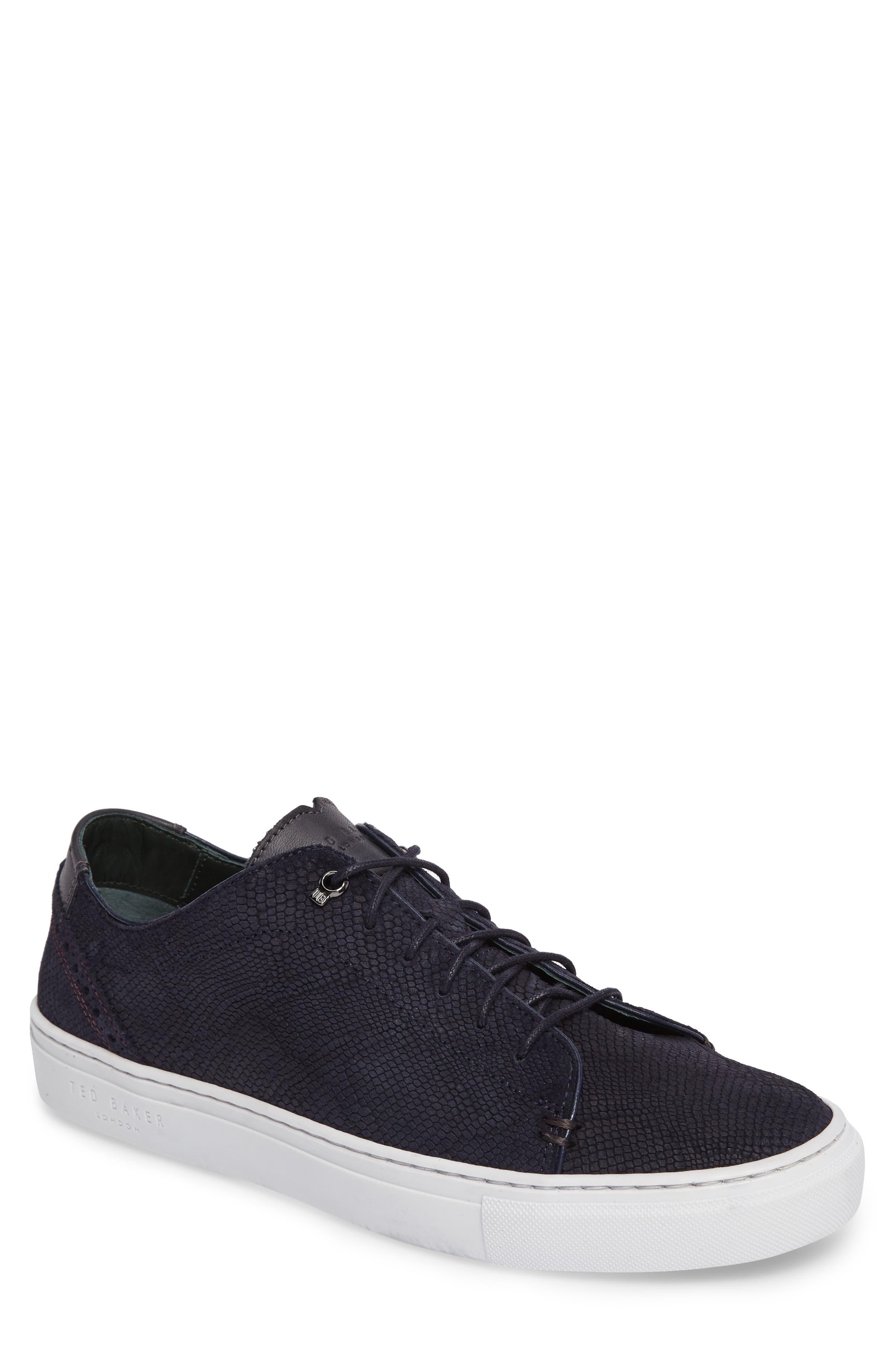 Duuke Sneaker,                         Main,                         color, Dark Blue Suede