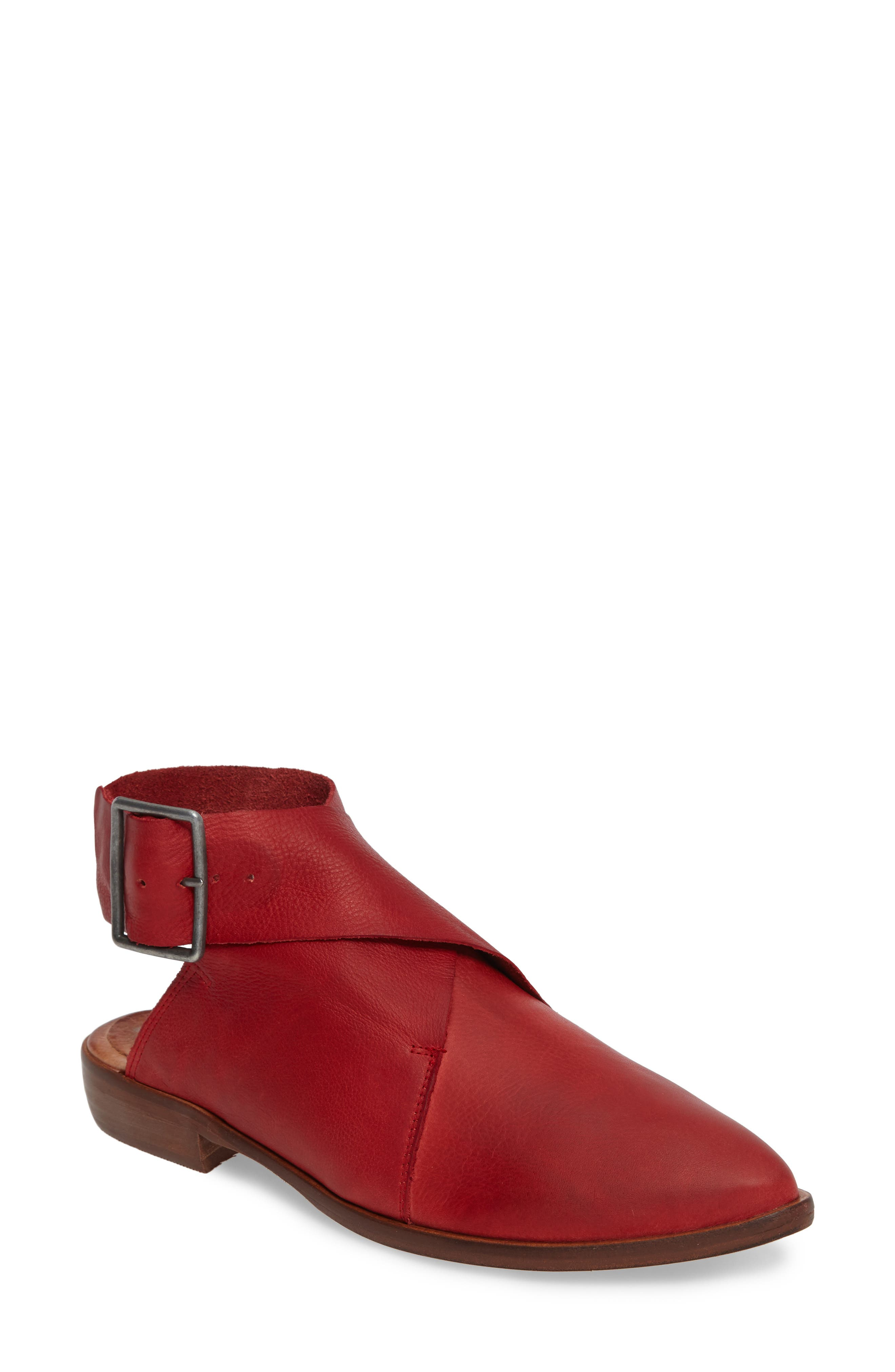 Bryce Buckle Wrap Flat,                             Main thumbnail 1, color,                             Red