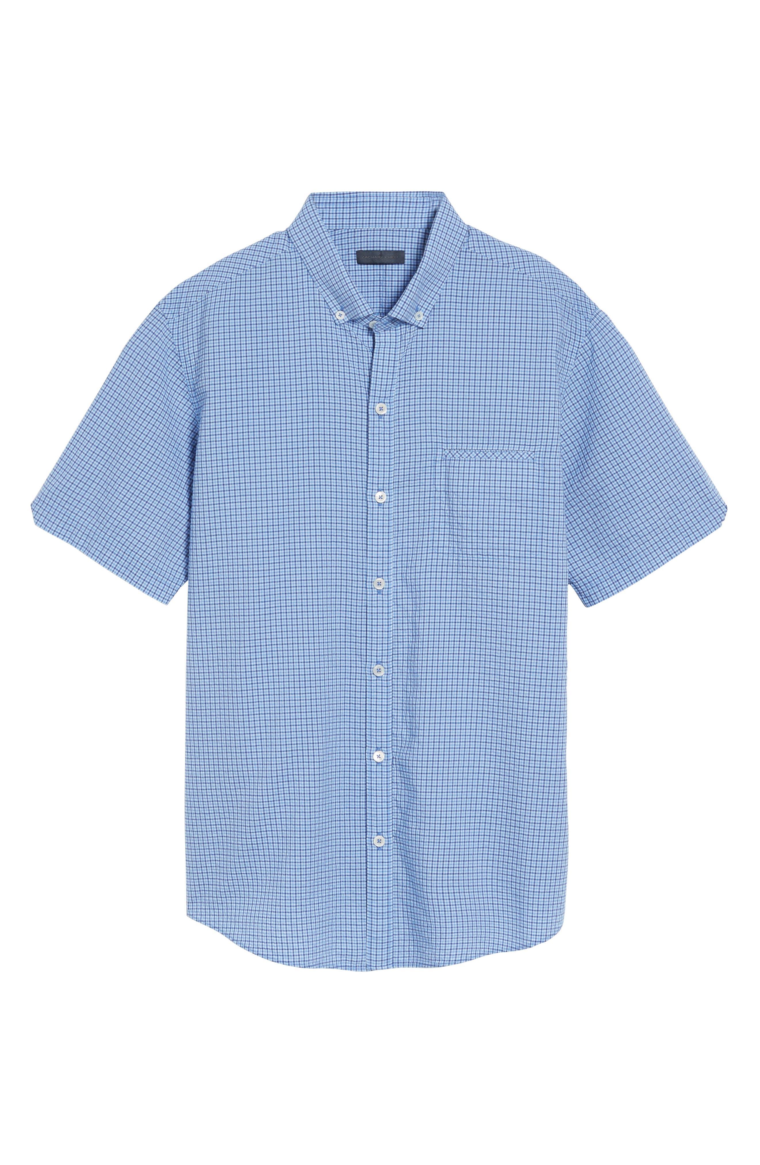 Short Sleeve Sport Shirt,                             Alternate thumbnail 6, color,                             Teal