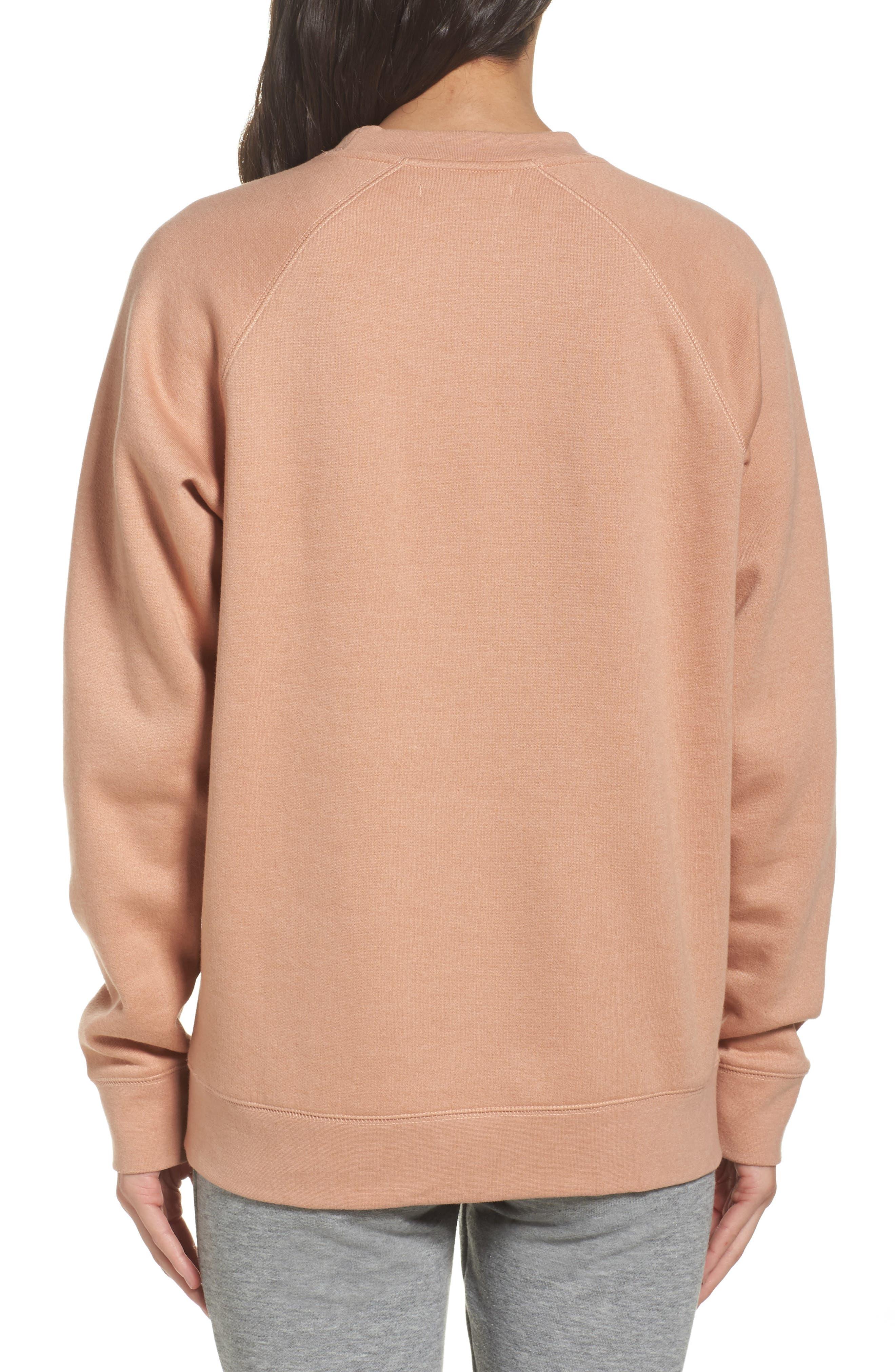 Rosé Okay Sweatshirt,                             Alternate thumbnail 2, color,                             Beige
