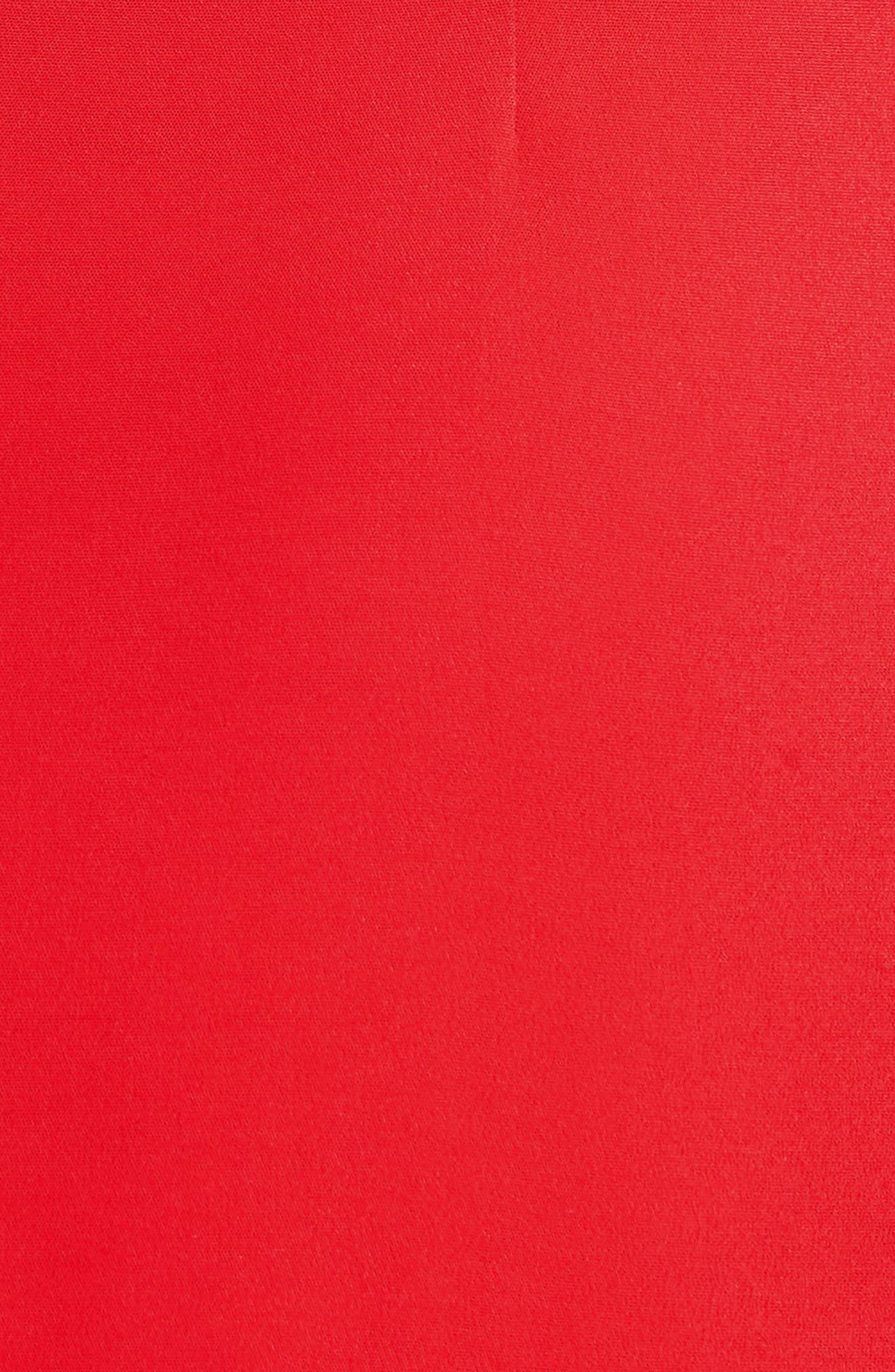 Cowl Neck Pencil Dress,                             Alternate thumbnail 3, color,                             Poppy