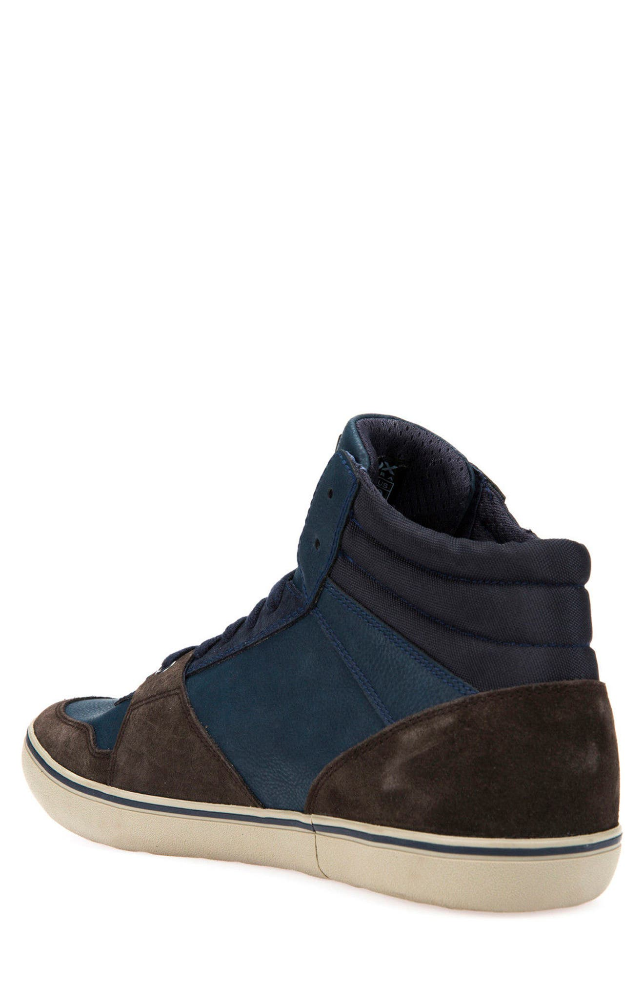 Box 29 High Top Sneaker,                             Alternate thumbnail 2, color,                             Dark Coffee/ Navy