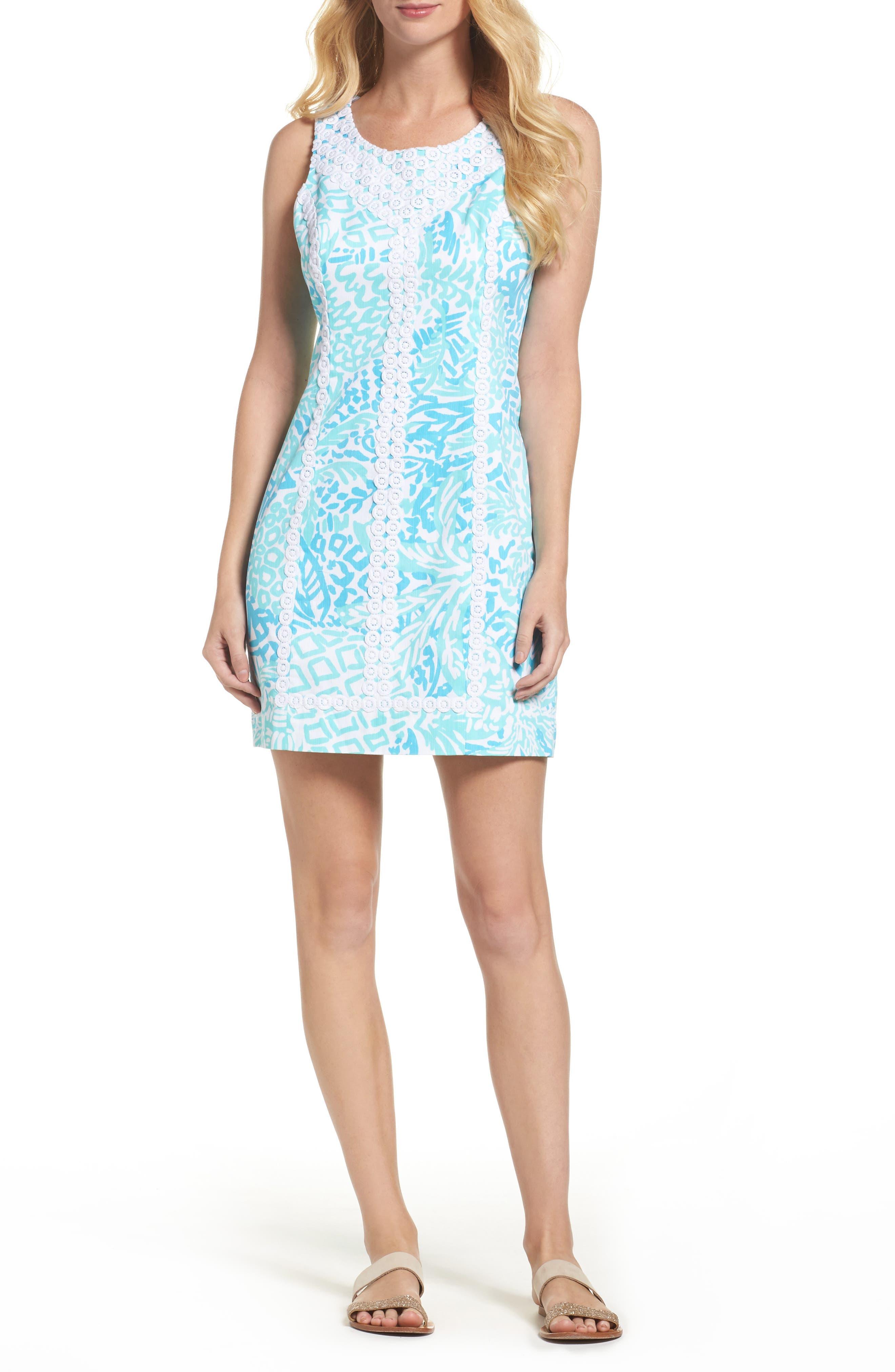 McFarlane Sheath dress,                         Main,                         color, Seaside Aqua Home Slice