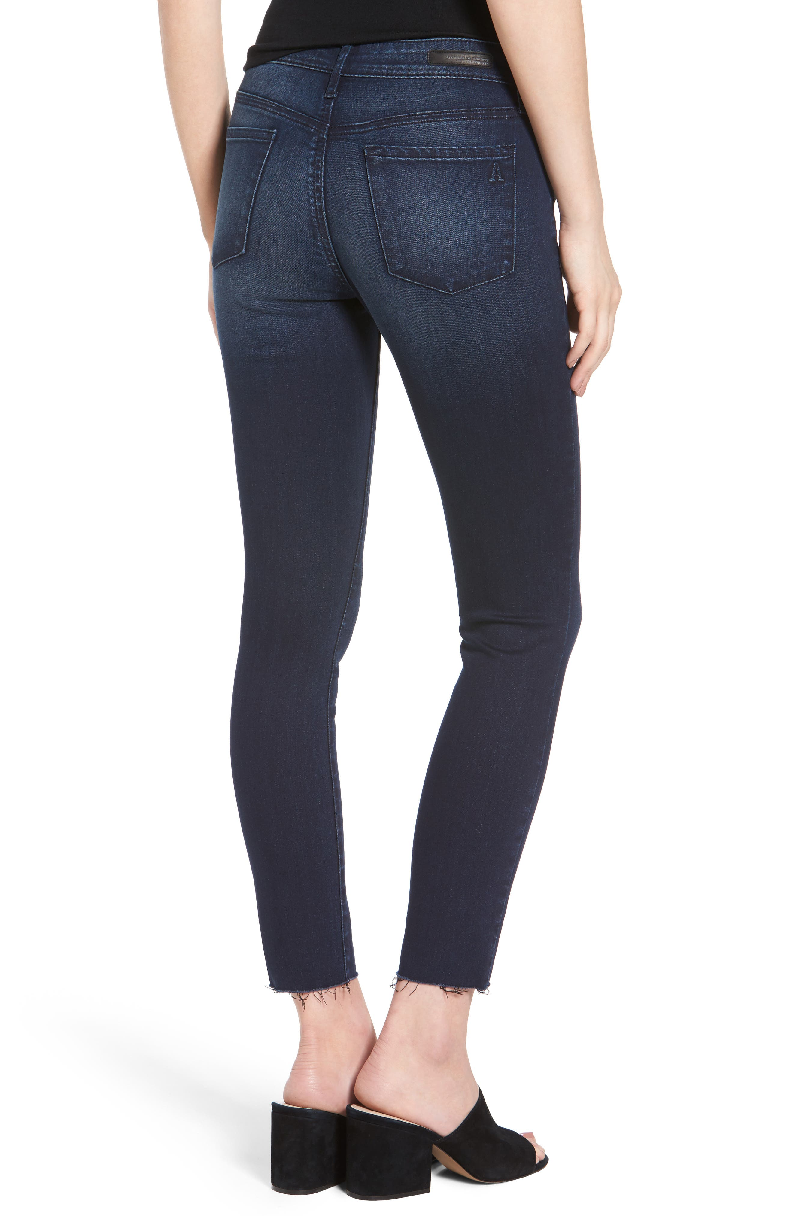 Carly Crop Skinny Jeans,                             Alternate thumbnail 2, color,                             Brooks